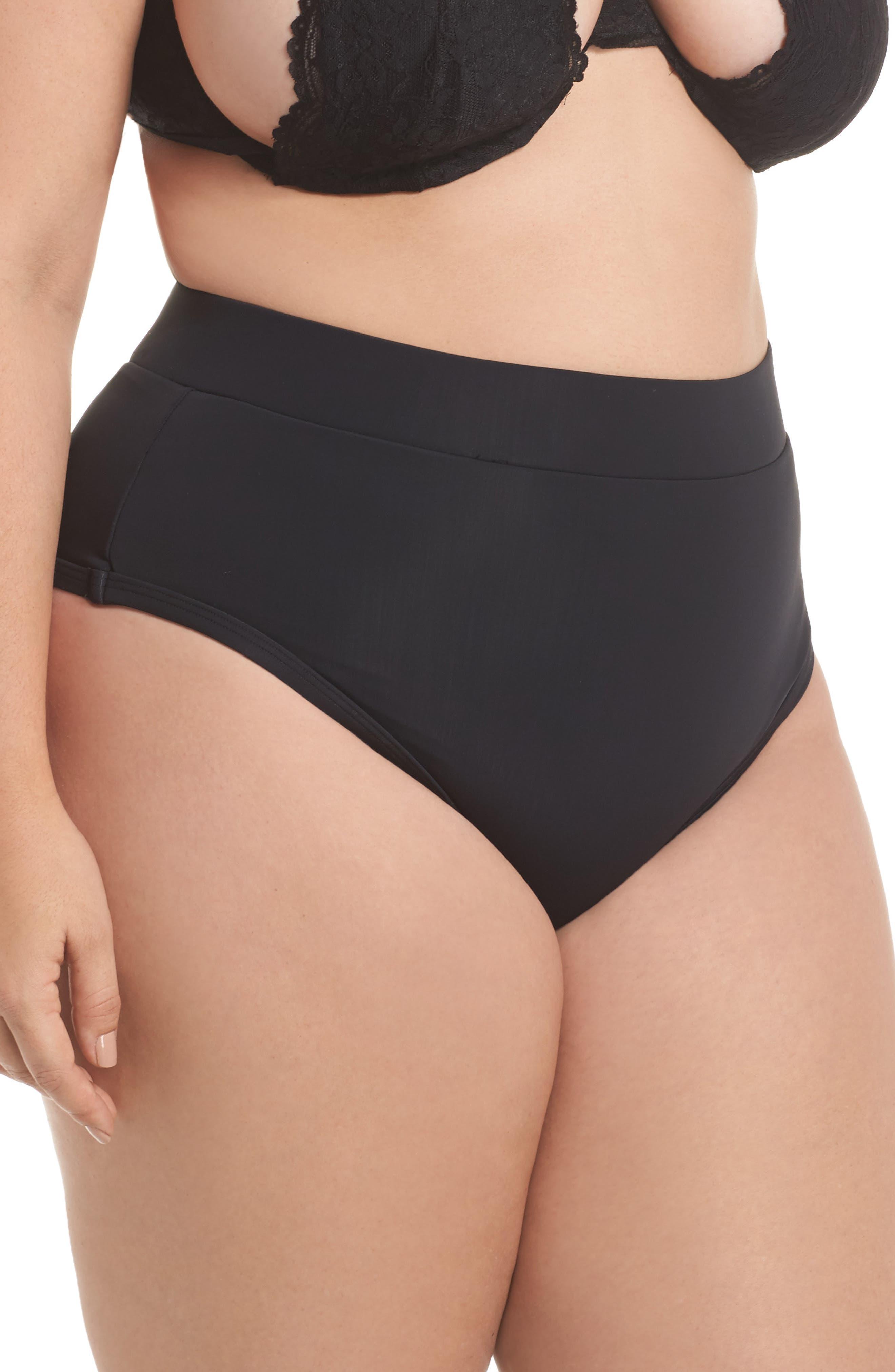 ALPINE BUTTERFLY, Lover High Waist Bikini Bottoms, Alternate thumbnail 4, color, BLACK