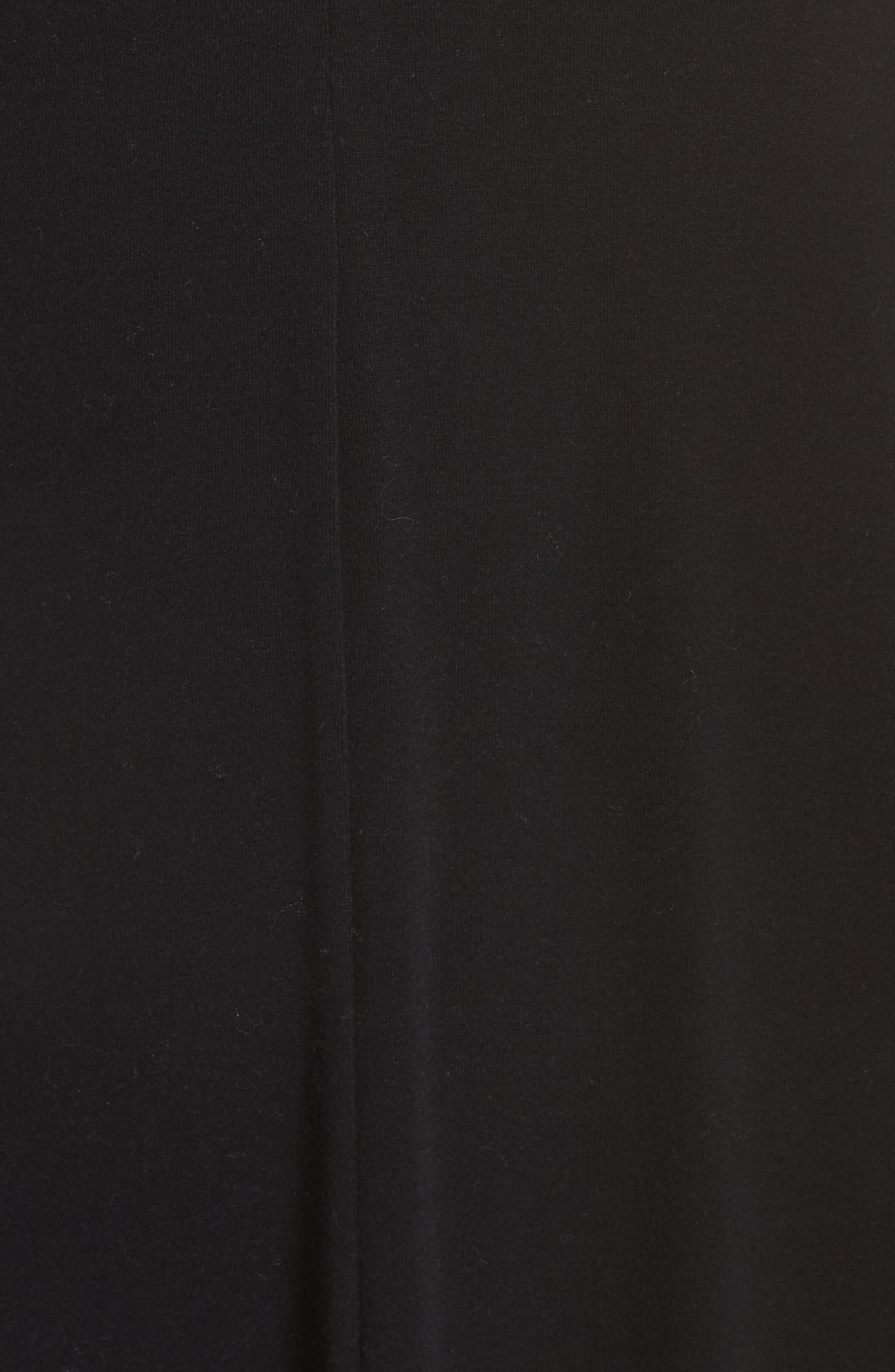 SOMETHING NAVY, Midi Nightgown, Alternate thumbnail 6, color, BLACK