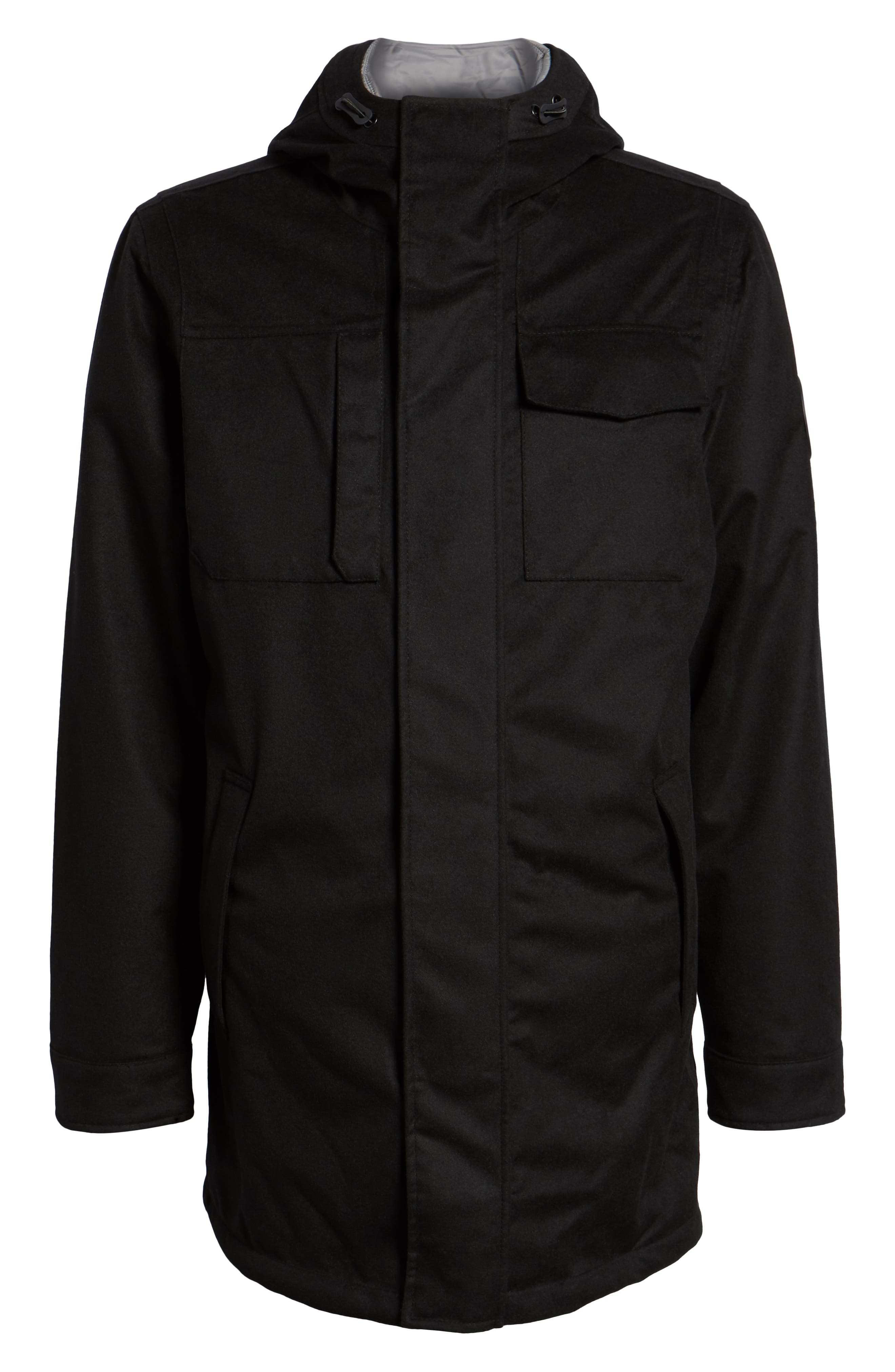 UGG<SUP>®</SUP>, Copeland 3-in-1 Parka, Alternate thumbnail 6, color, BLACK