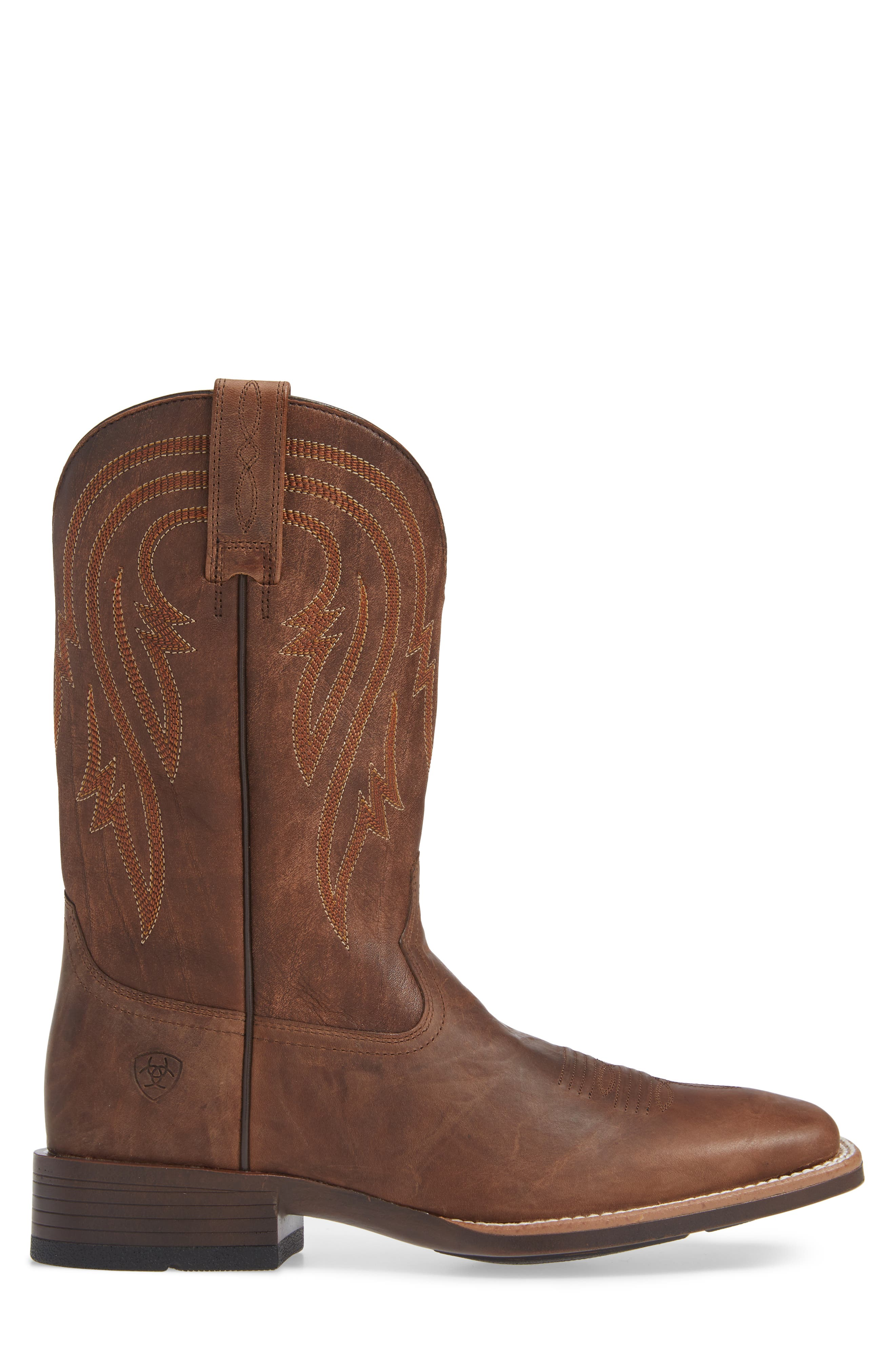 ARIAT, Plano Cowboy Boot, Alternate thumbnail 3, color, TANNIN/ TACK ROM LEATHER