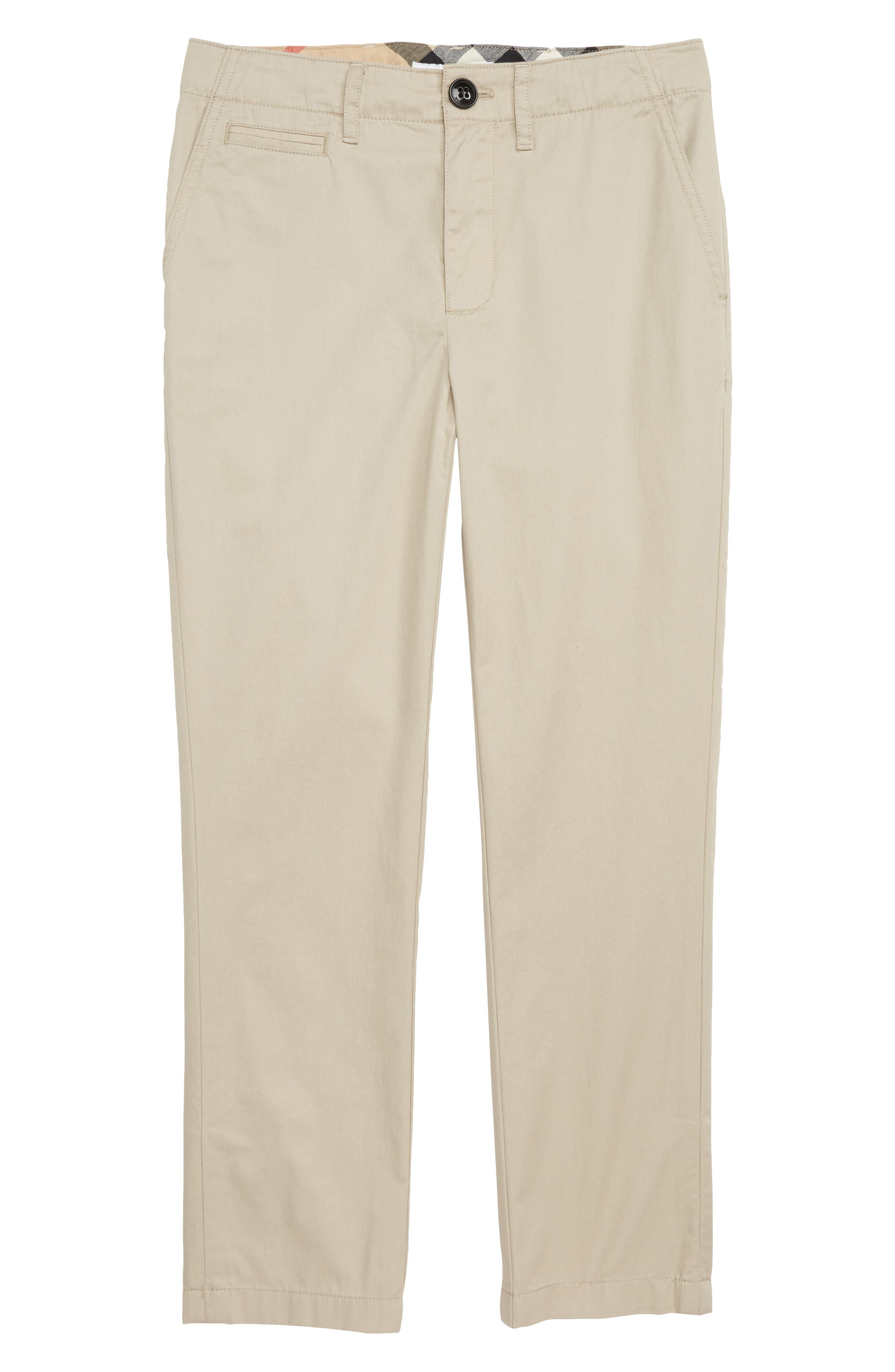 BURBERRY, Kids Teo Trousers, Main thumbnail 1, color, 028
