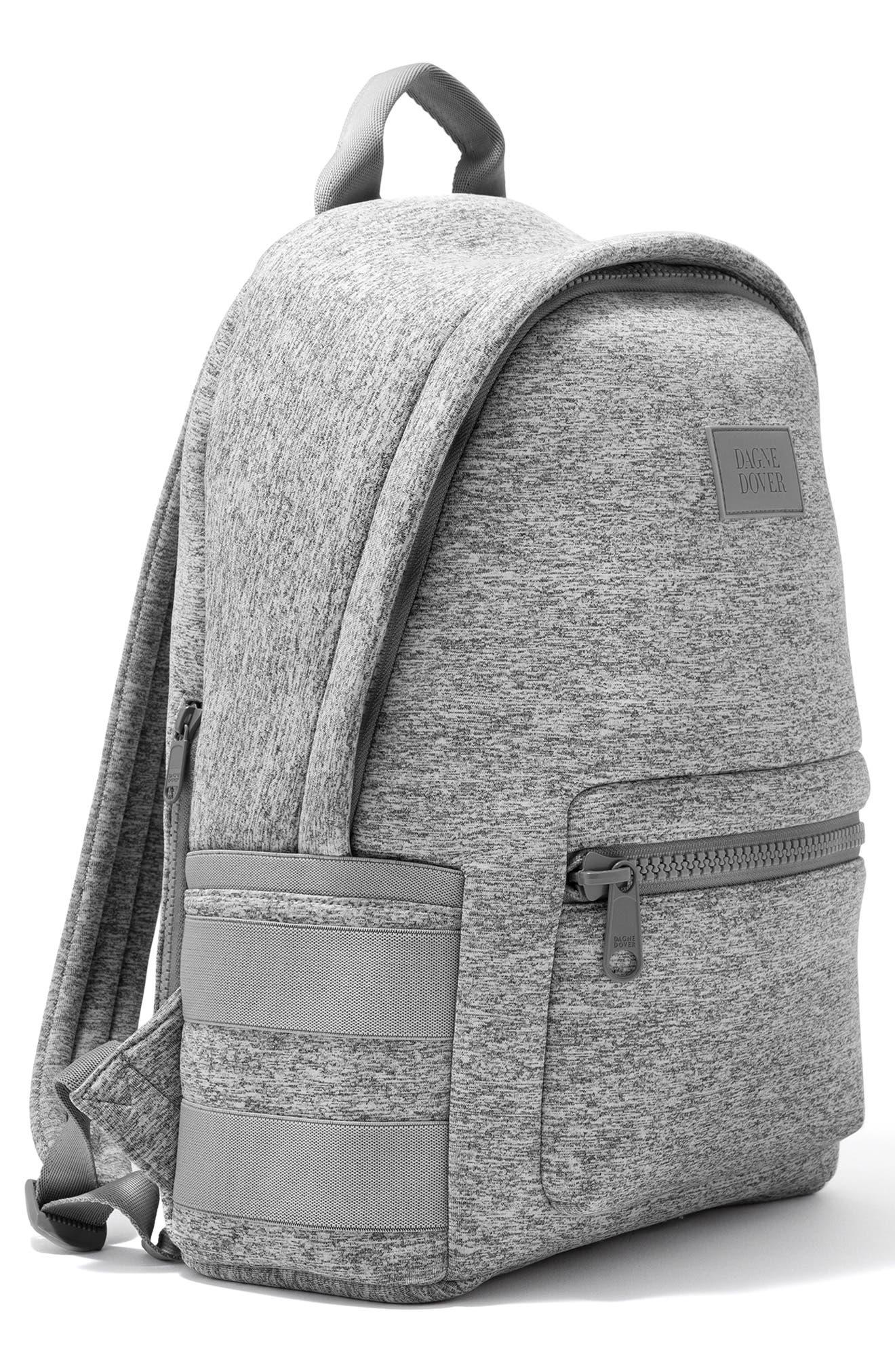 DAGNE DOVER, 365 Dakota Neoprene Backpack, Alternate thumbnail 6, color, HEATHER GREY