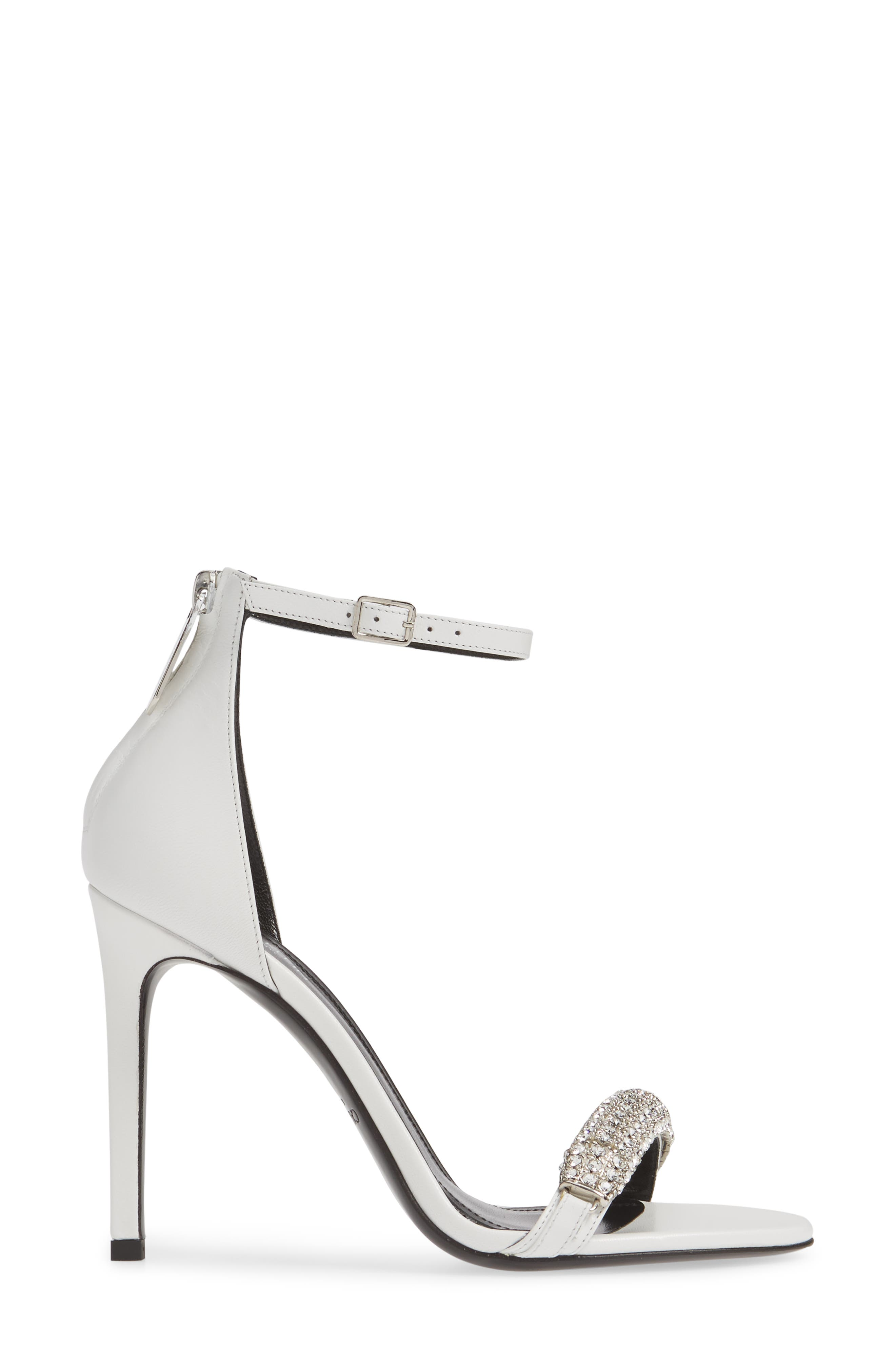 CALVIN KLEIN 205W39NYC, Camelle Sandal, Alternate thumbnail 3, color, WHITE