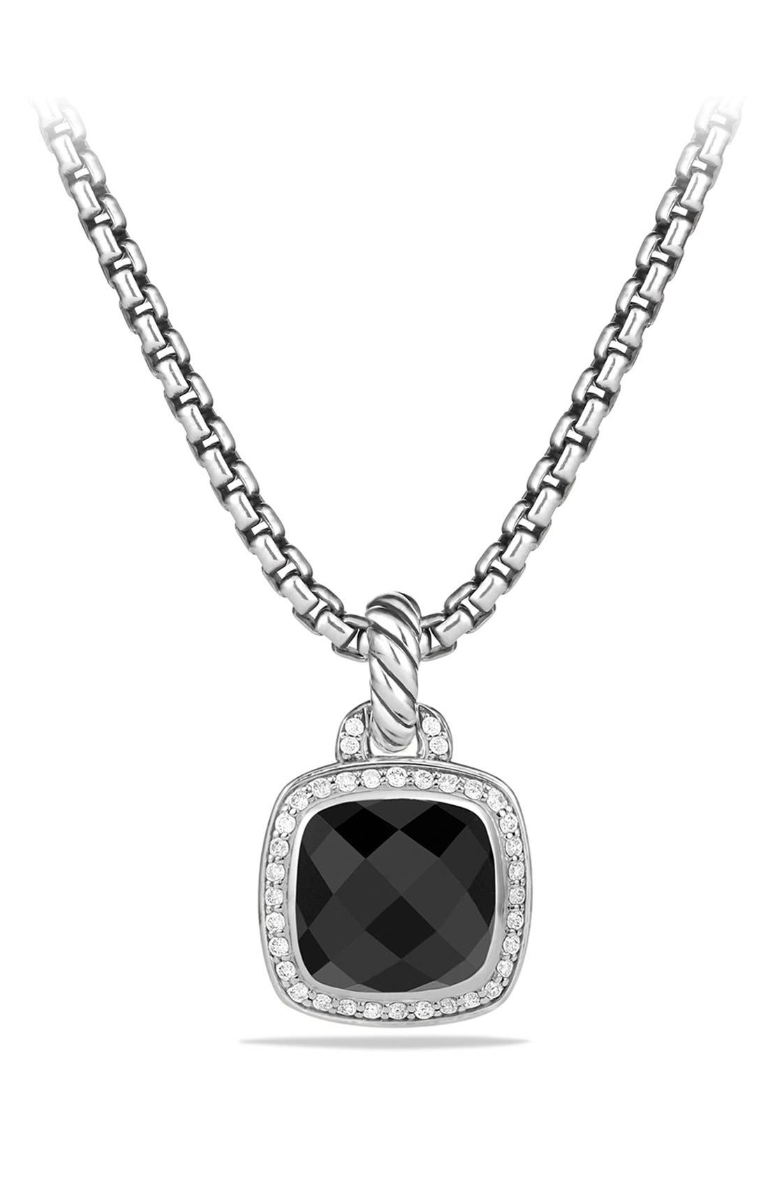 DAVID YURMAN, 'Albion' Pendant and Diamonds, Main thumbnail 1, color, BLACK ONYX