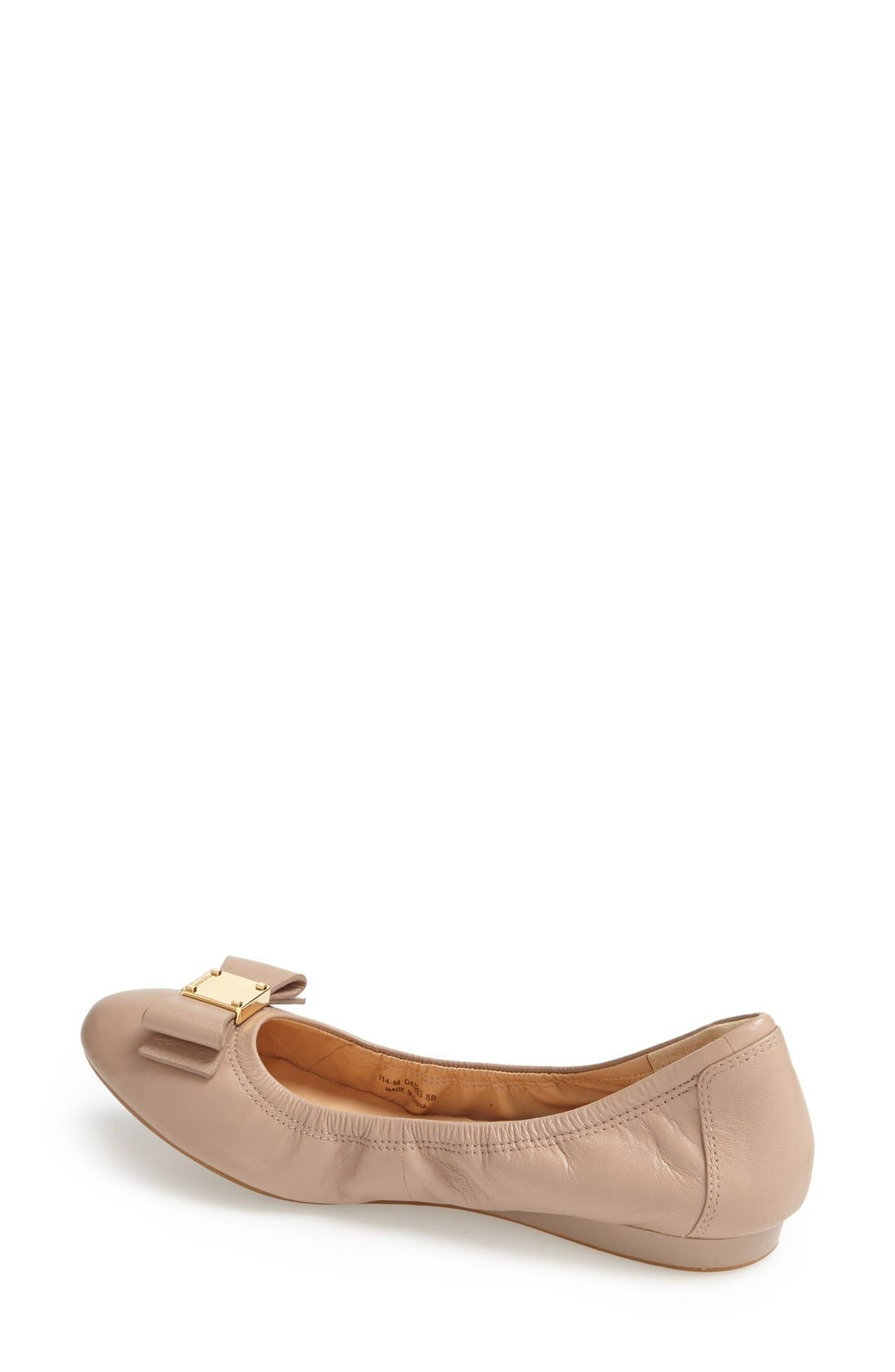 COLE HAAN, 'Tali' Bow Ballet Flat, Alternate thumbnail 2, color, MAPLE SUGAR