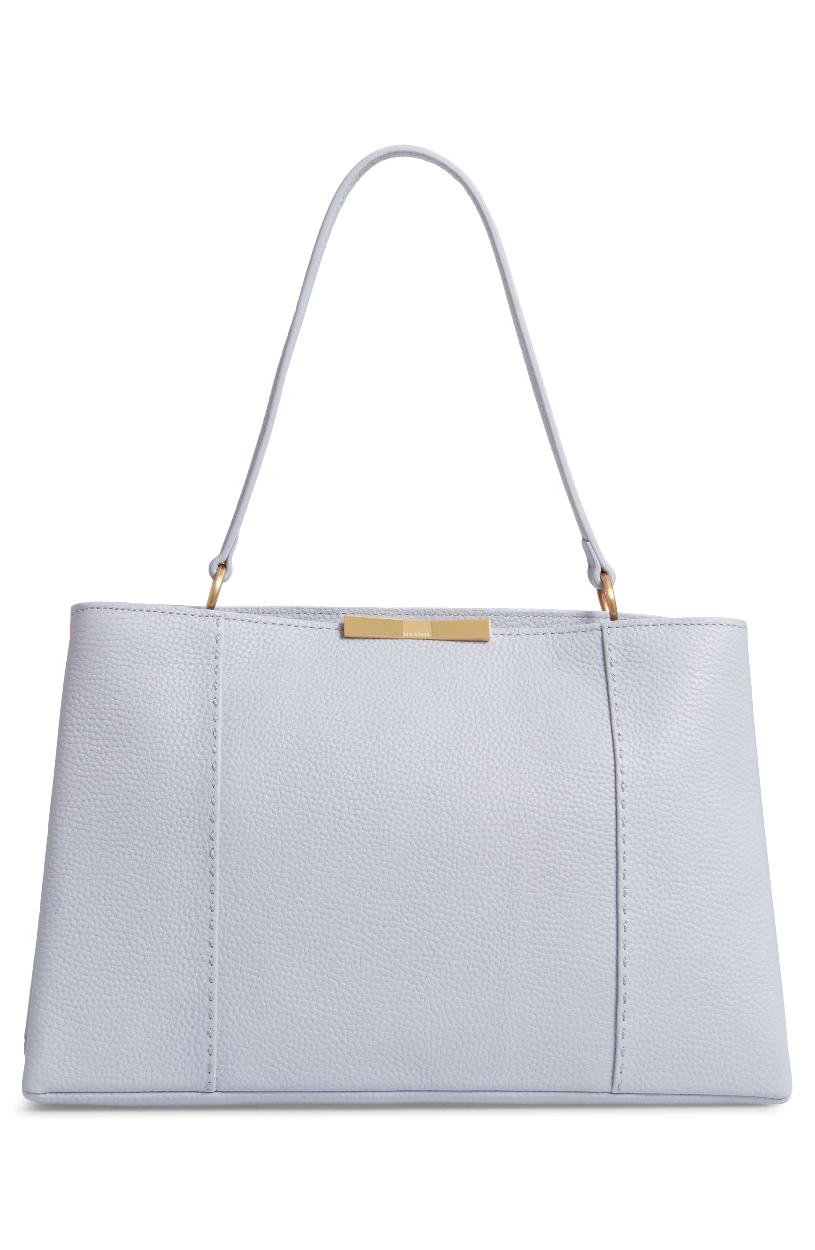 TED BAKER LONDON, Camieli Bow Tote, Alternate thumbnail 4, color, PL-BLUE