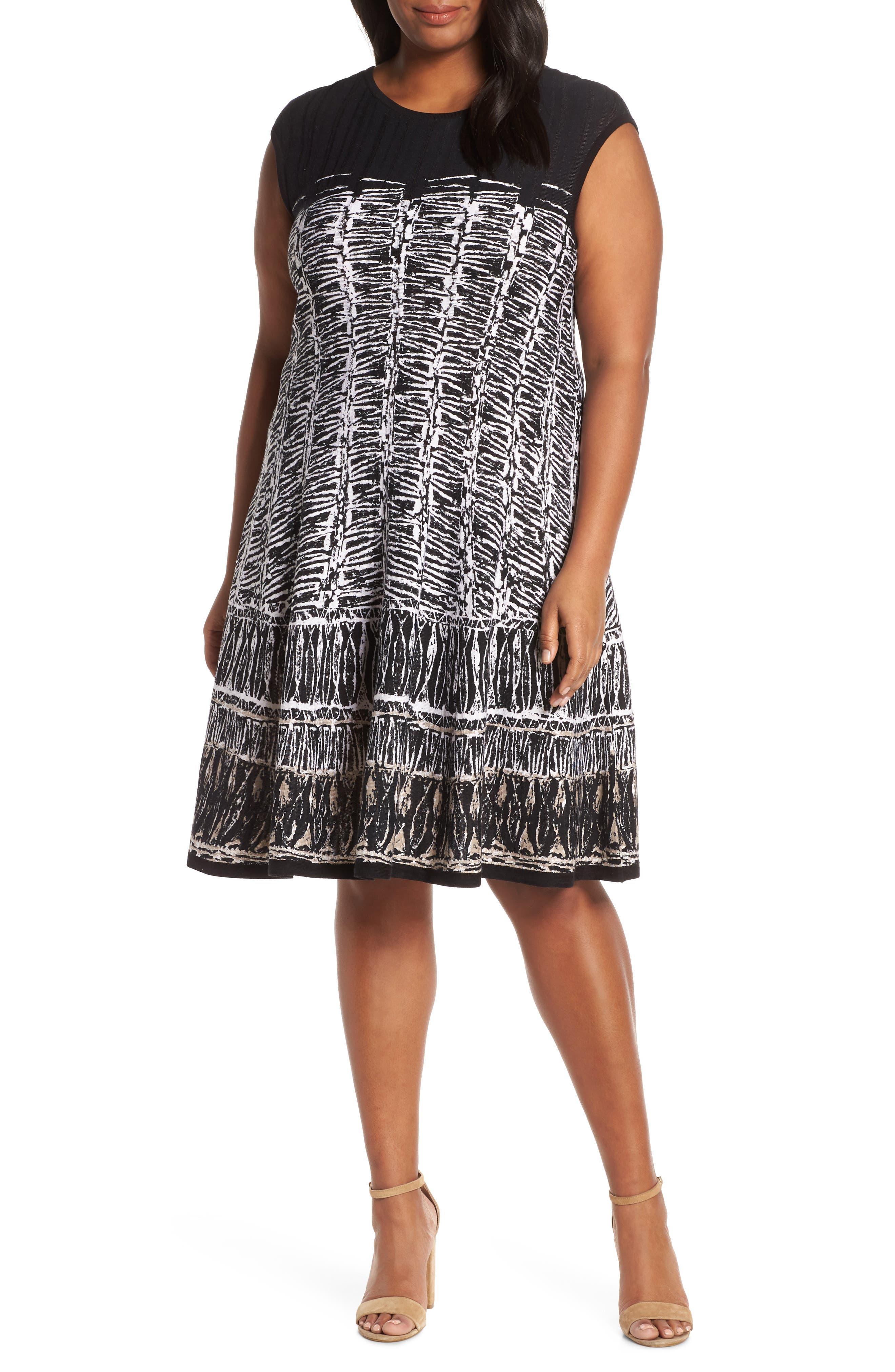 Plus Size Nic+Zoe Garden Party Dress, Black