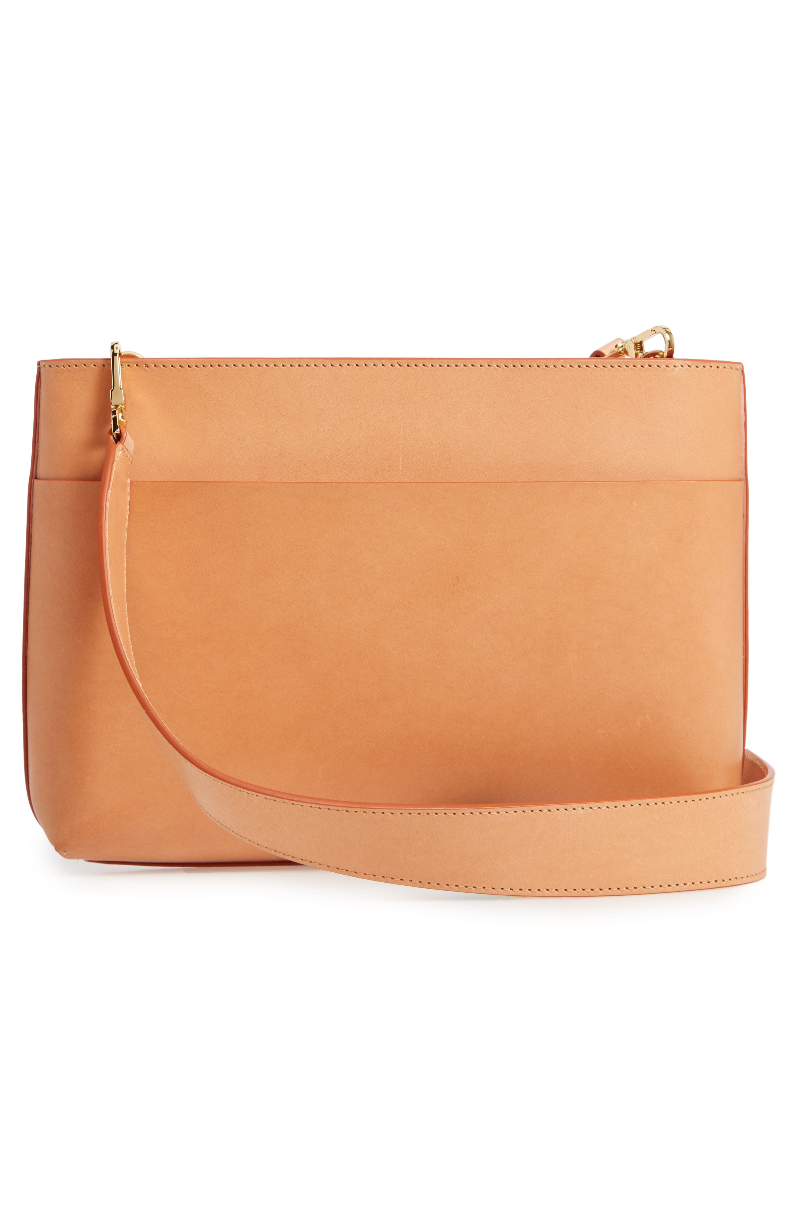 MANSUR GAVRIEL, Logo Leather Crossbody Bag, Alternate thumbnail 3, color, 250