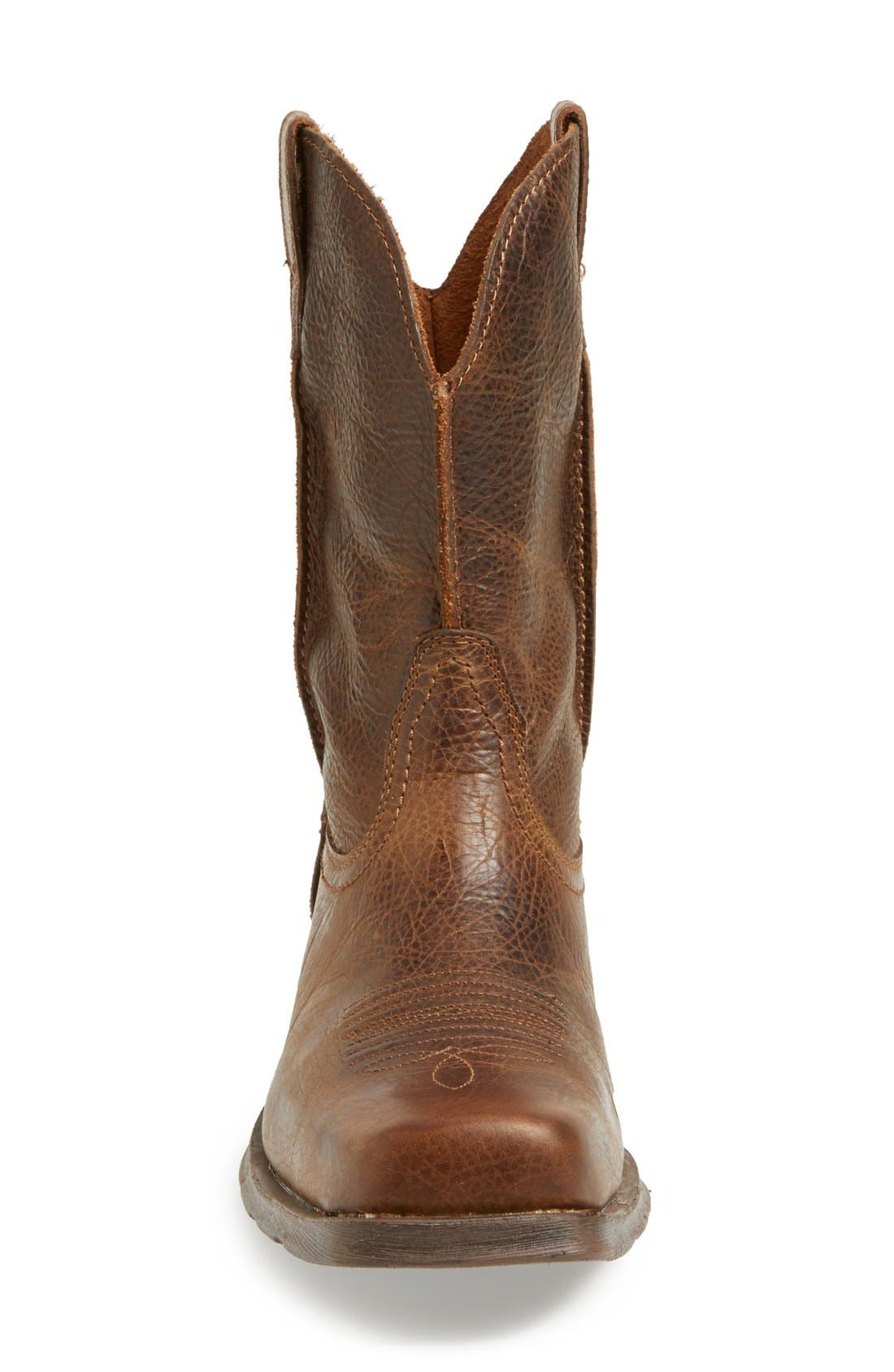 ARIAT, 'Rambler' Square Toe Leather Cowboy Boot, Alternate thumbnail 2, color, 200