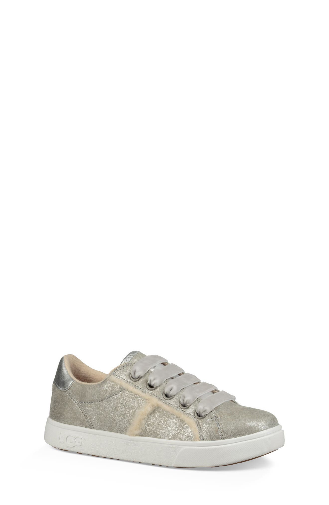 UGG<SUP>®</SUP>, Alanna Low Top Sneaker, Main thumbnail 1, color, SILVER