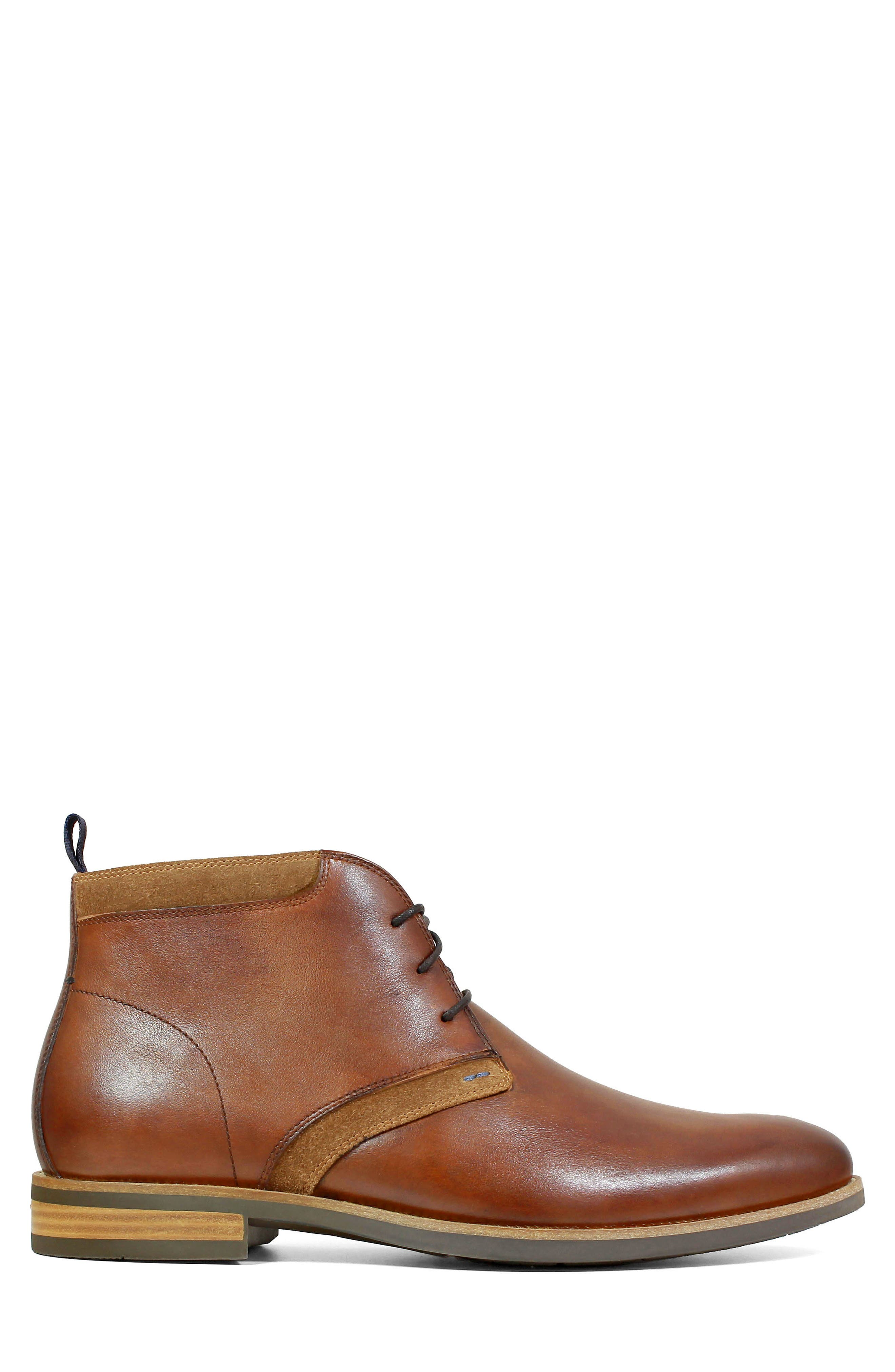 FLORSHEIM, Uptown Chukka Boot, Alternate thumbnail 3, color, COGNAC LEATHER