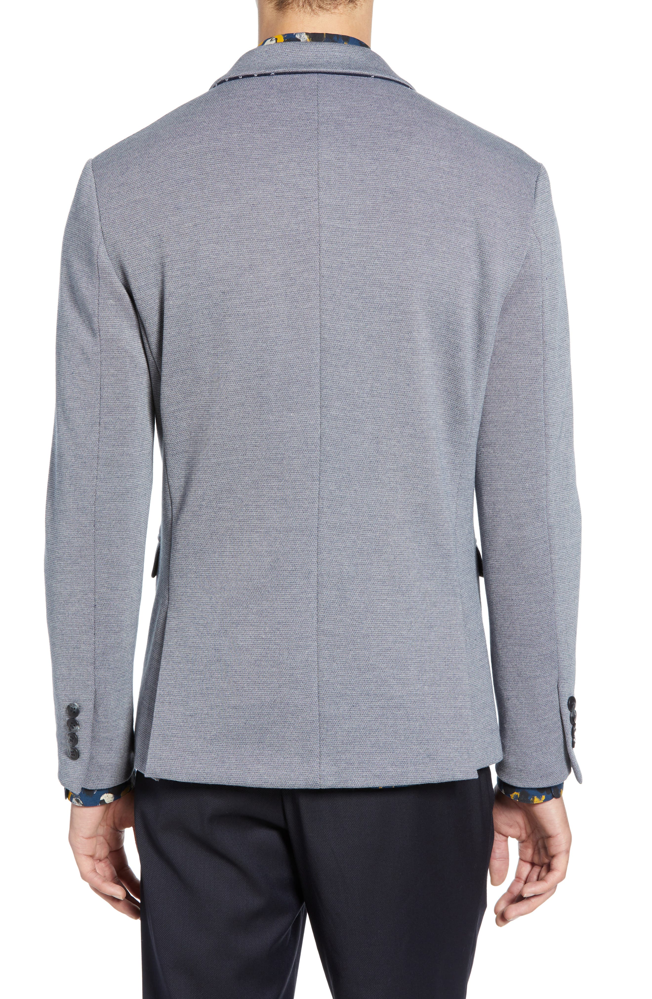 SELECTED HOMME, Slim Fit Sport Coat, Alternate thumbnail 2, color, GREY MELANGE