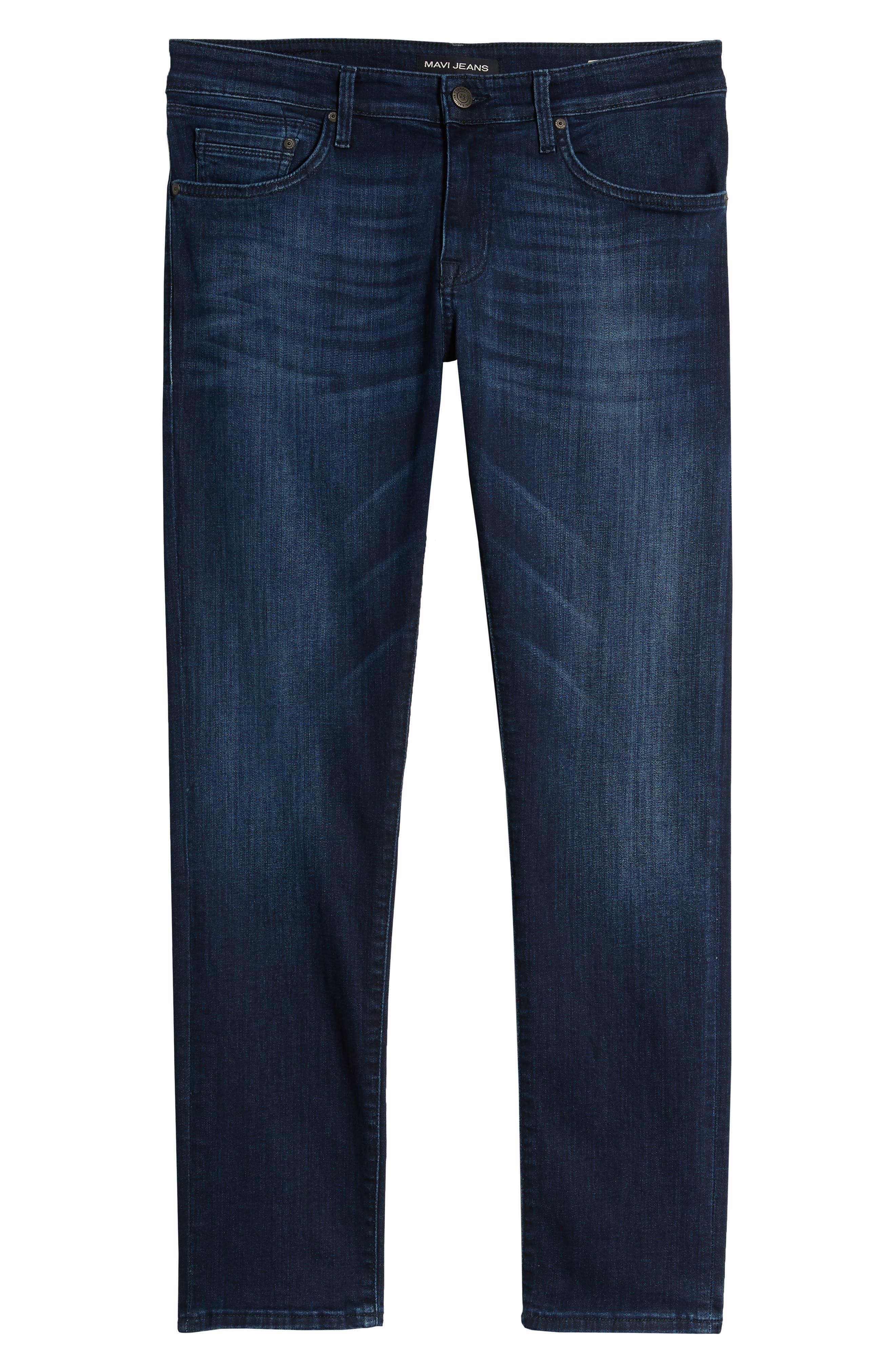 MAVI JEANS, Jake Slim Fit Jeans, Alternate thumbnail 7, color, DARK TONAL WILLIAMSBURG