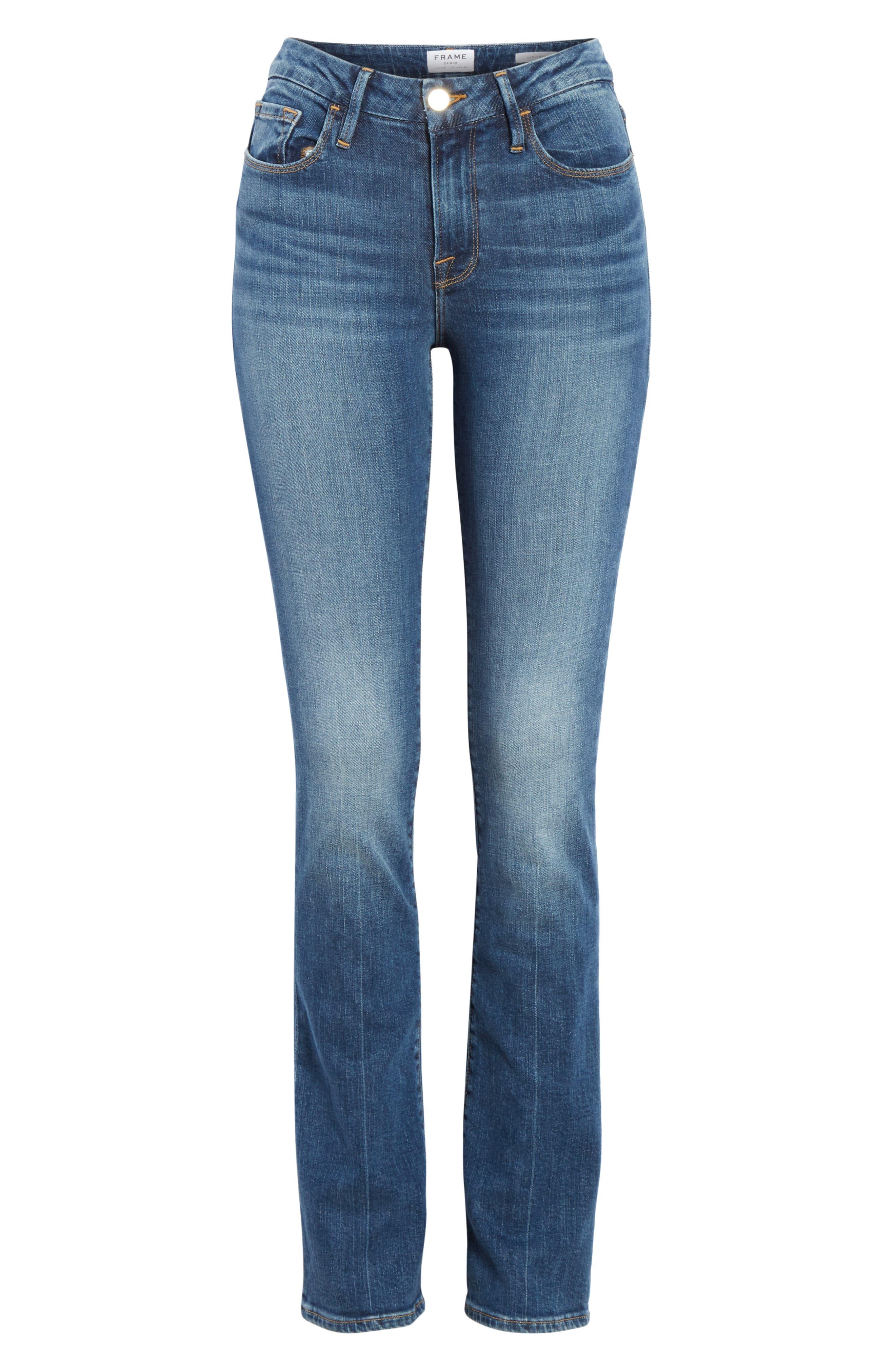FRAME, Le Mini Boot Jeans, Alternate thumbnail 7, color, BLENDON
