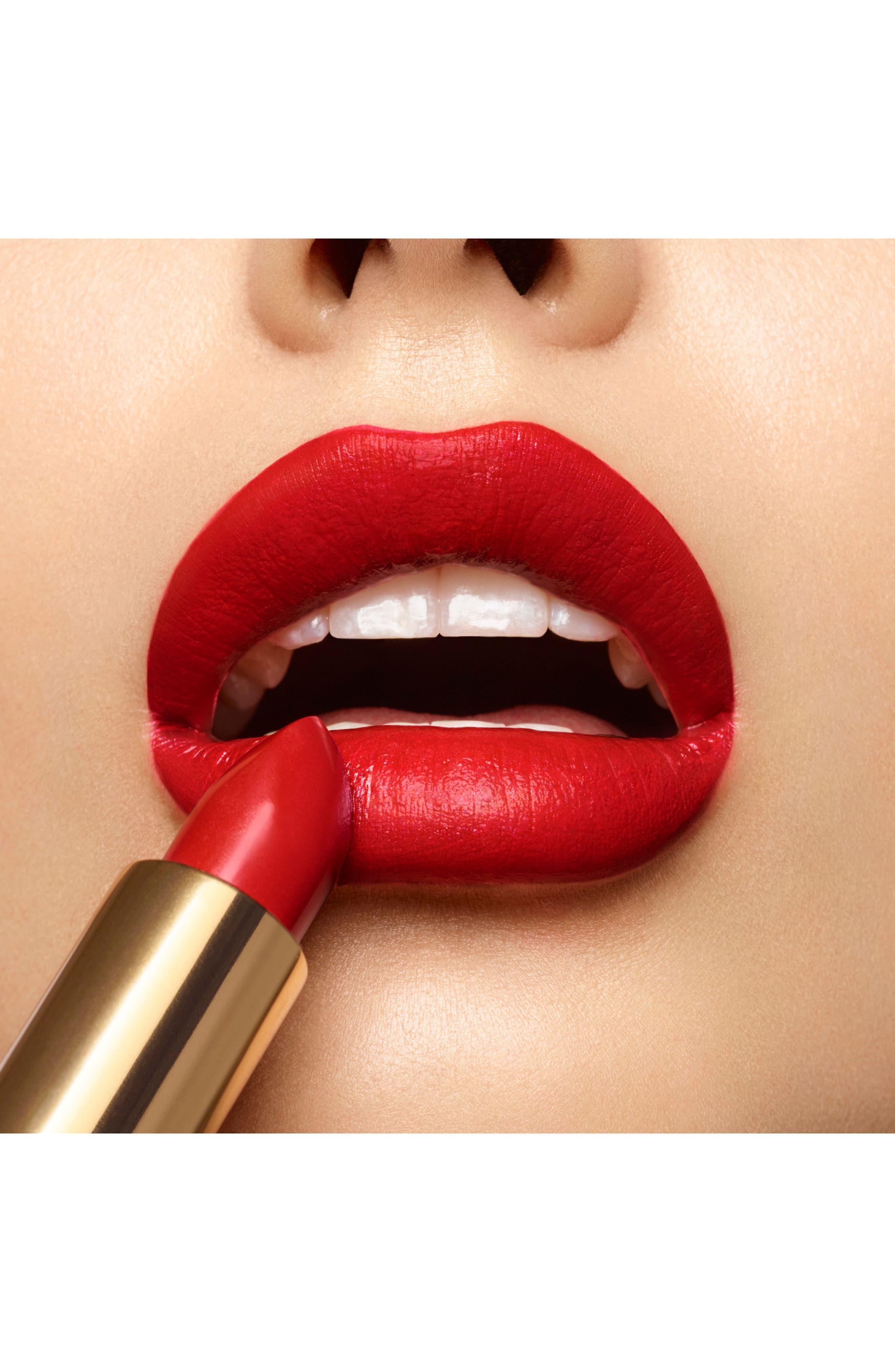 YVES SAINT LAURENT, Rouge Pur Couture Satin Lipstick, Alternate thumbnail 2, color, 01 LE ROUGE