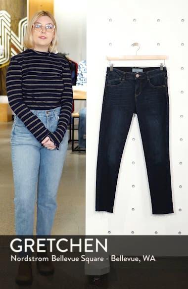 Ab-Solution Raw Hem Skinny Jeans, sales video thumbnail