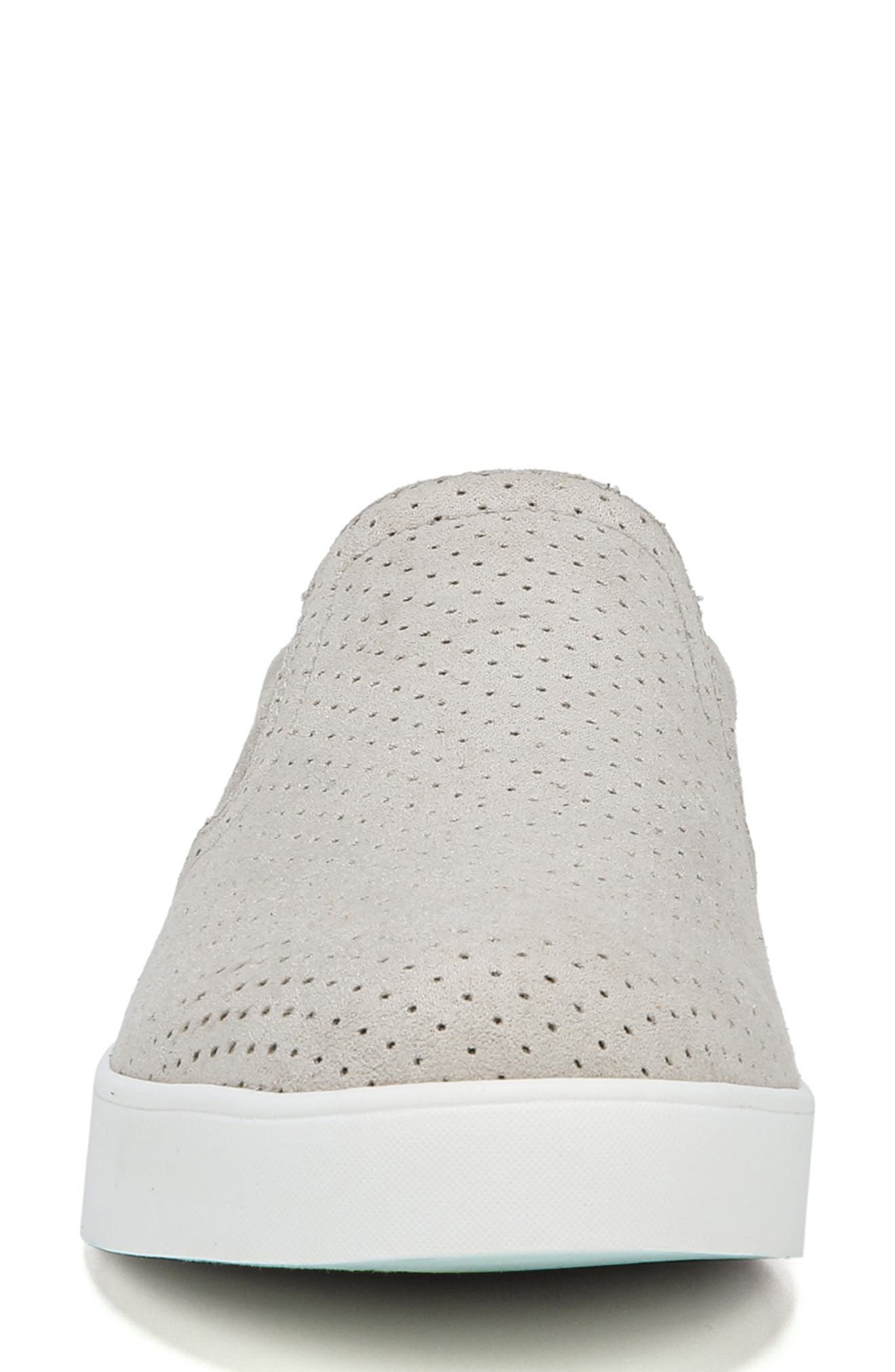 DR. SCHOLL'S, Madison Slip-On Sneaker, Alternate thumbnail 4, color, GREY PERFORATED FABRIC