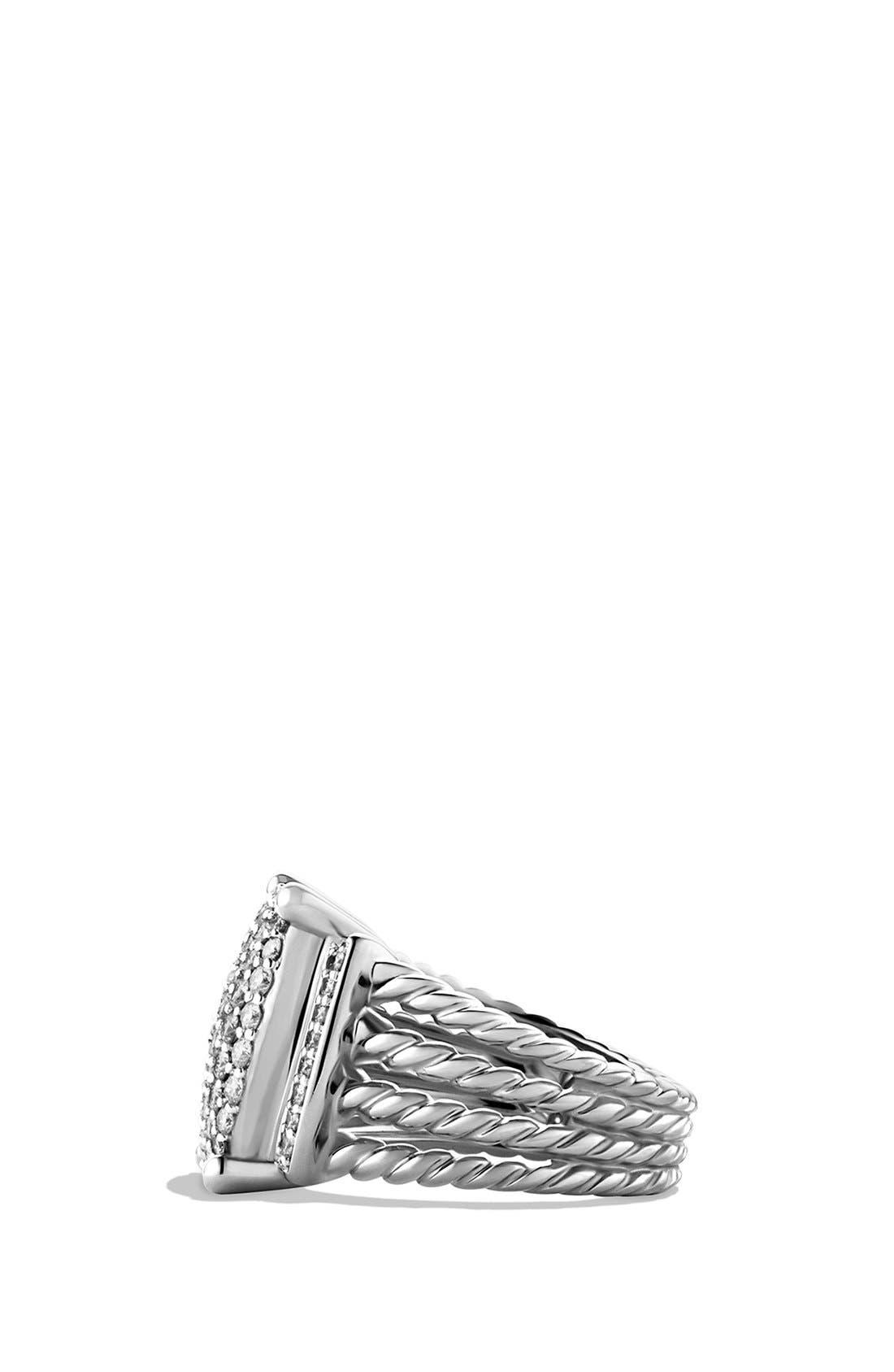 DAVID YURMAN, 'Wheaton' Ring with Diamonds, Alternate thumbnail 2, color, DIAMOND