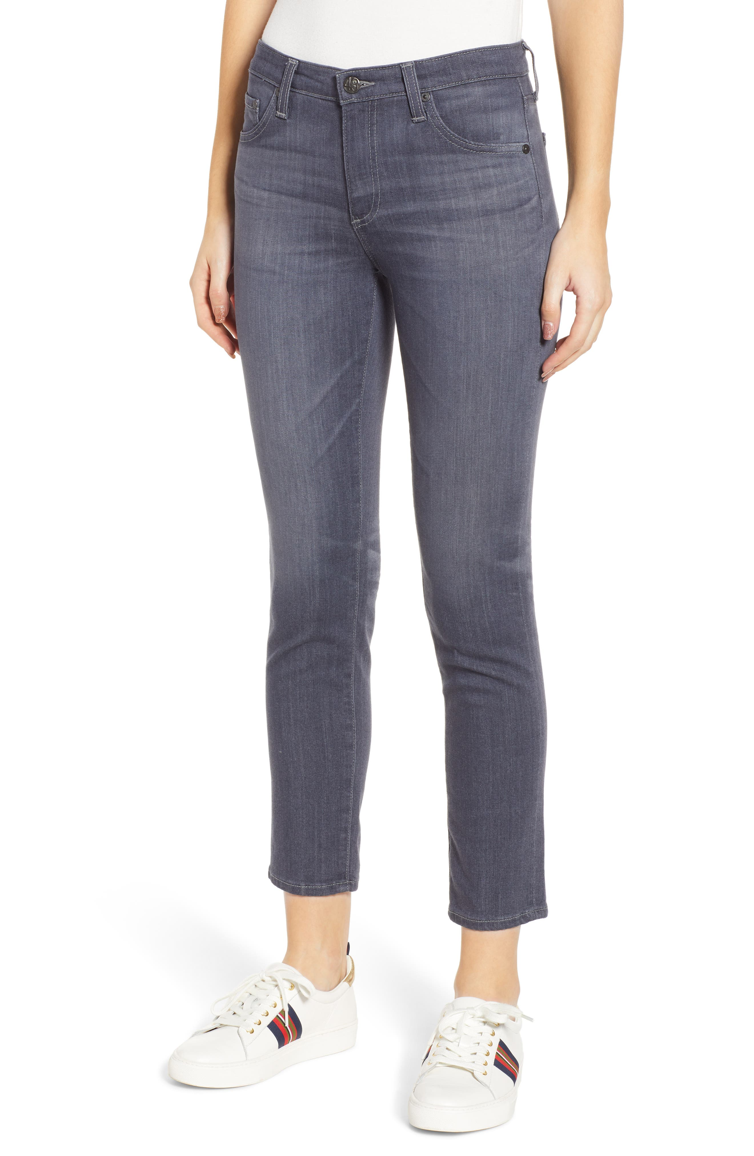 AG, The Prima Crop Cigarette Jeans, Main thumbnail 1, color, 08 YEAR SMOKY DUST