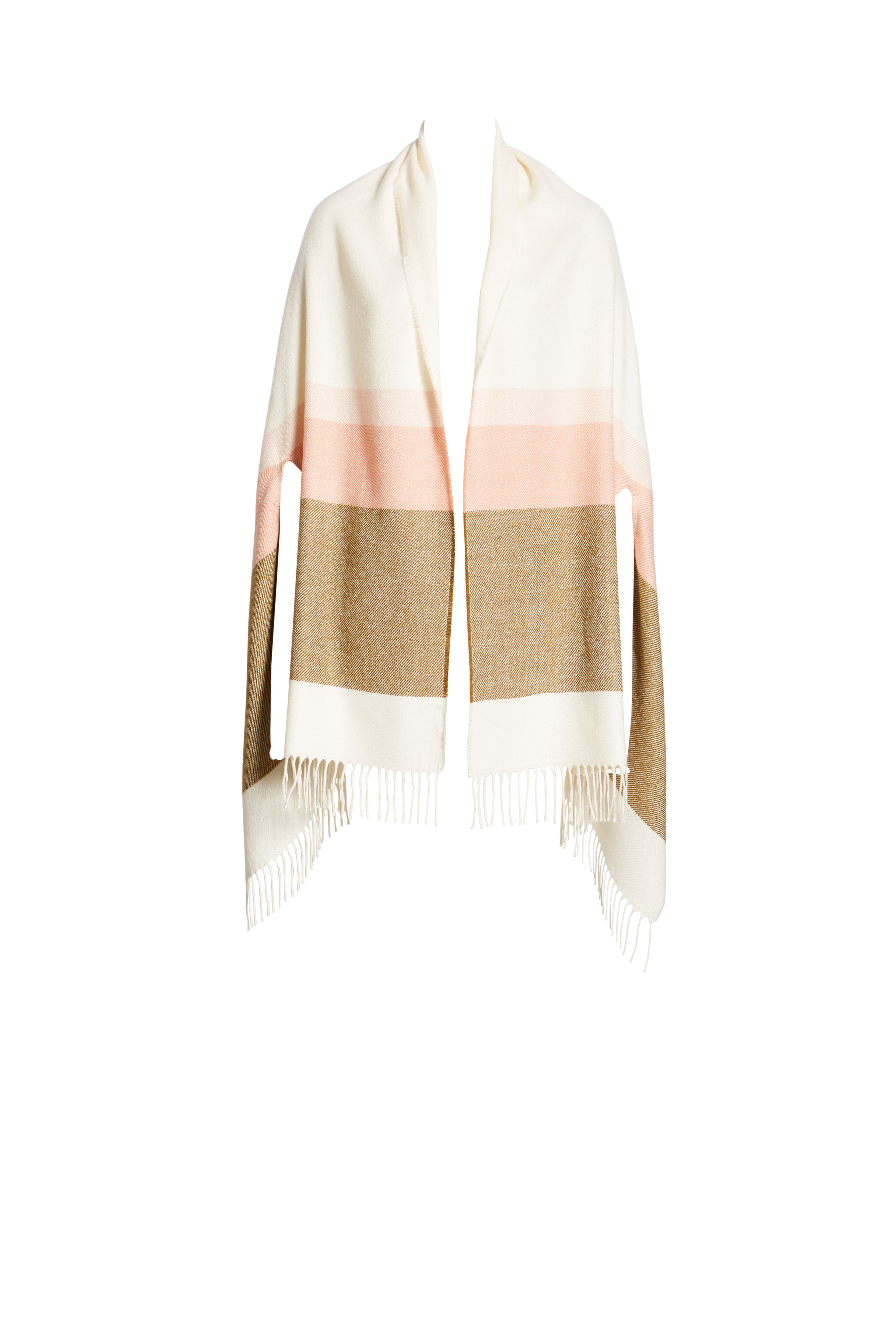 MADEWELL, Placed Stripe Cape Scarf, Alternate thumbnail 2, color, 200