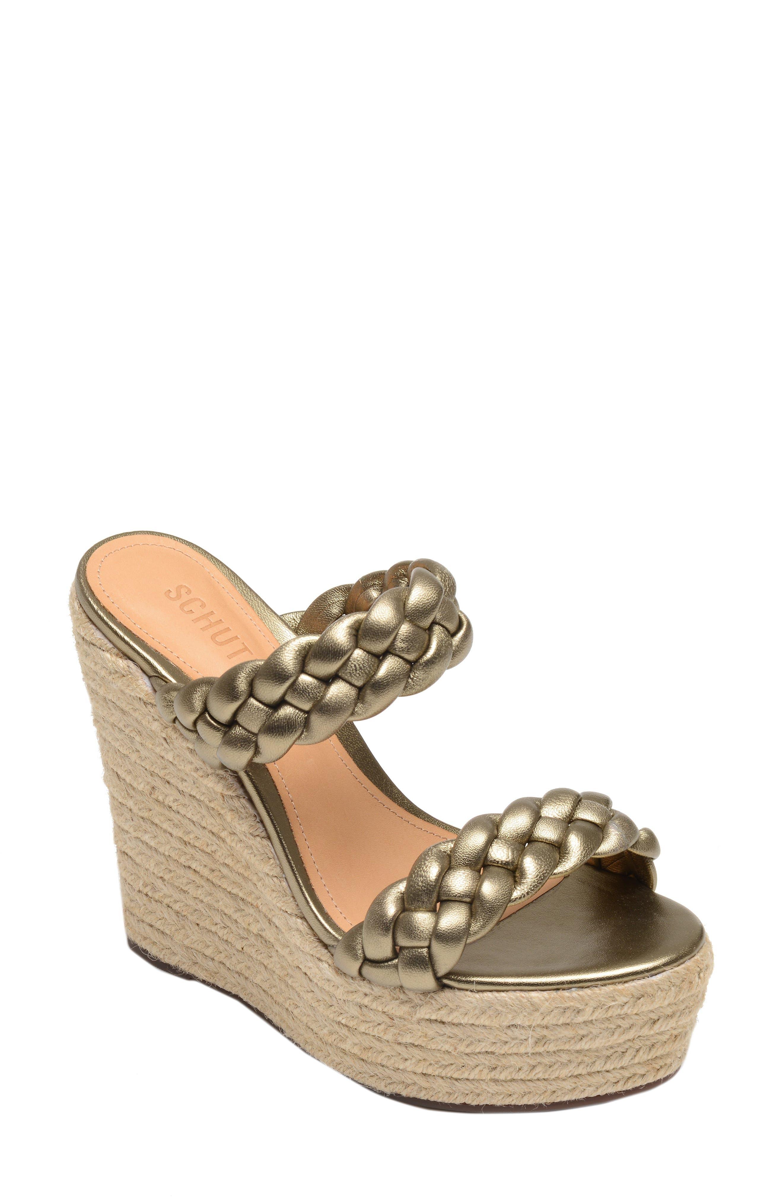 SCHUTZ, Dyandre Platform Wedge Slide Sandal, Main thumbnail 1, color, ALE WASH