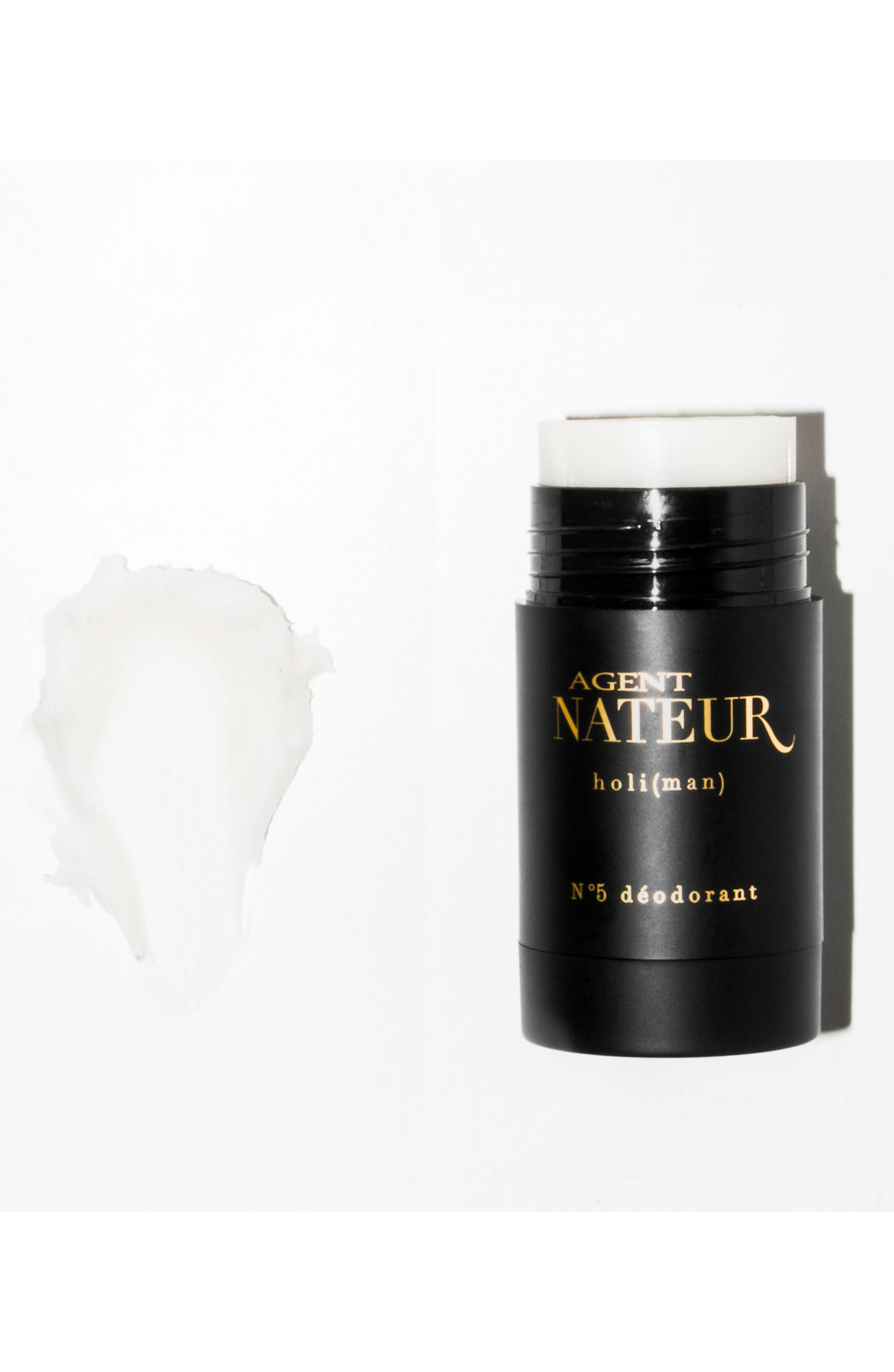AGENT NATEUR, Holi Man No. 5 Natural Deodorant, Alternate thumbnail 2, color, BLACK