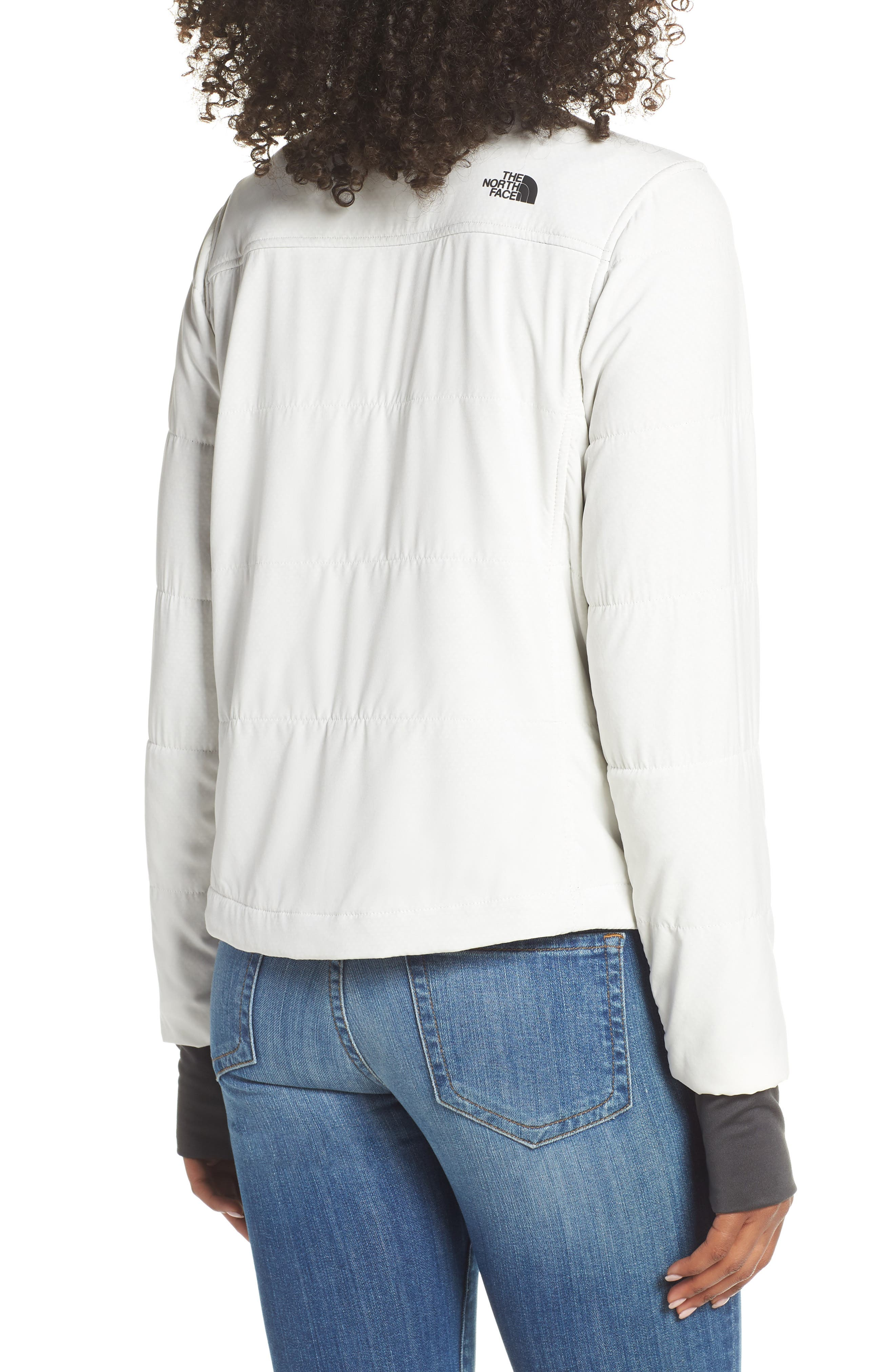THE NORTH FACE, Mountain Insulated Collarless Zip Jacket, Alternate thumbnail 2, color, 050