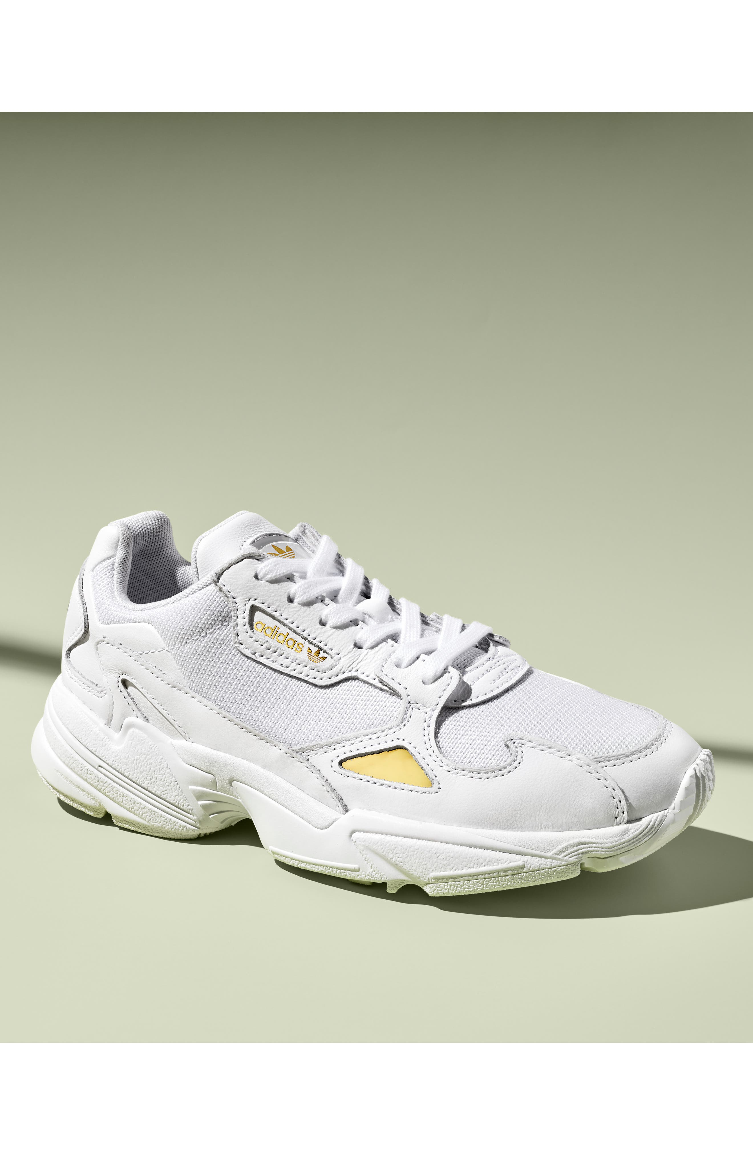 ADIDAS, Falcon Sneaker, Alternate thumbnail 7, color, HI-RES YELLOW/ CORE BLACK