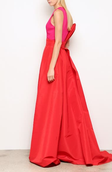Savoia Colorblock A-Line Gown, video thumbnail