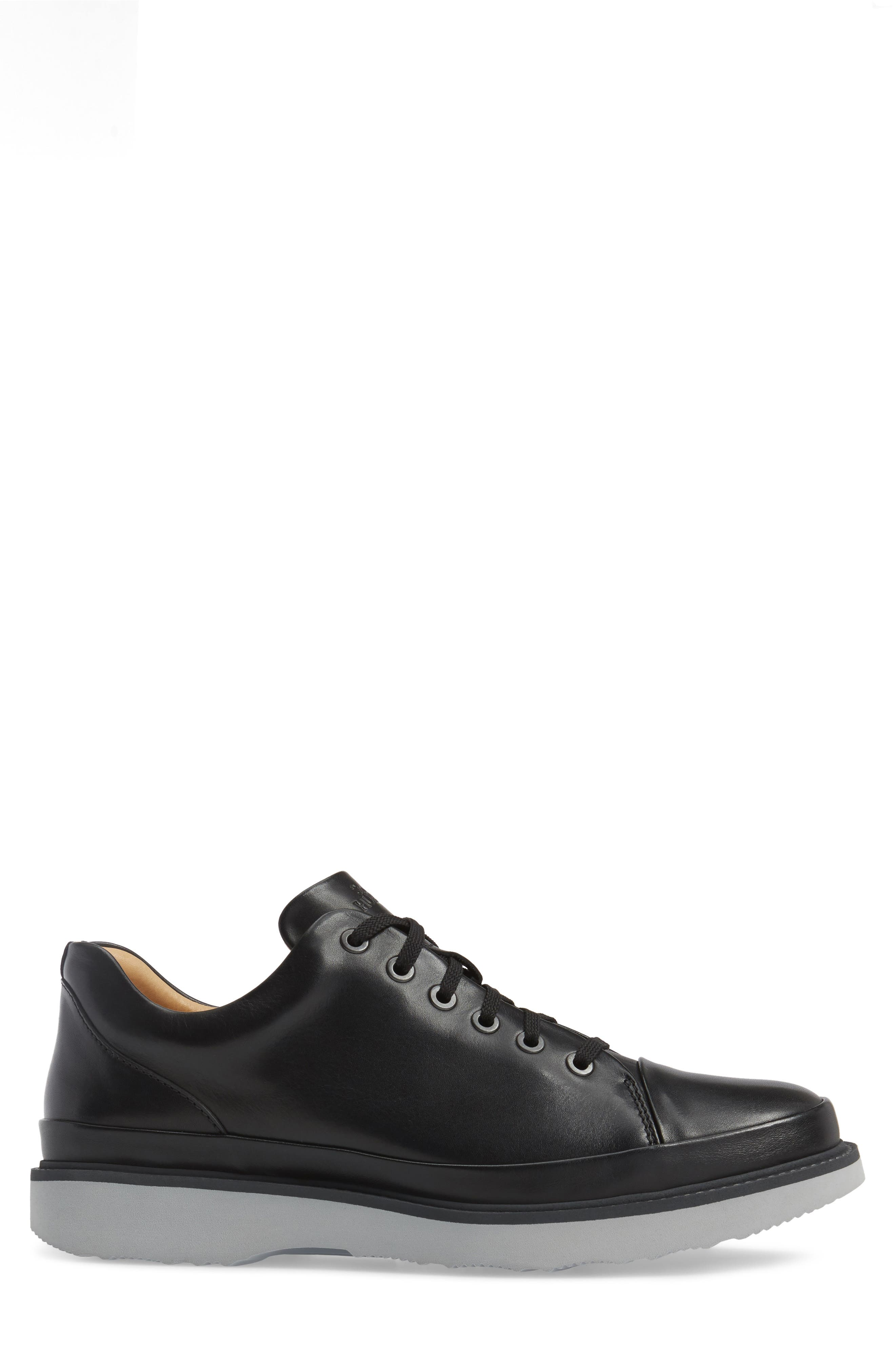 SAMUEL HUBBARD, Sneaker, Alternate thumbnail 3, color, BLACK LEATHER