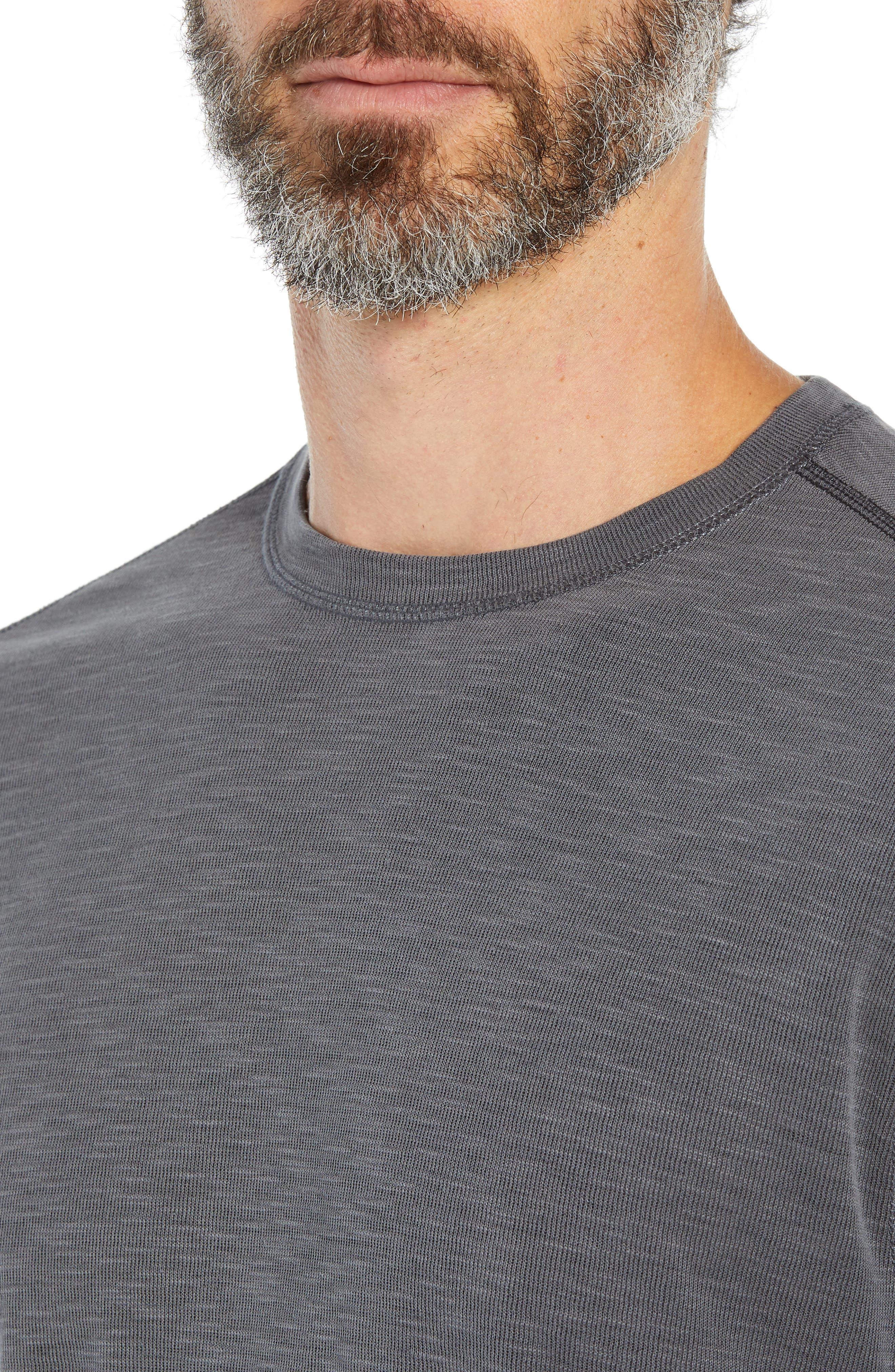 TOMMY BAHAMA, Flip Tide T-shirt, Alternate thumbnail 6, color, BLACK