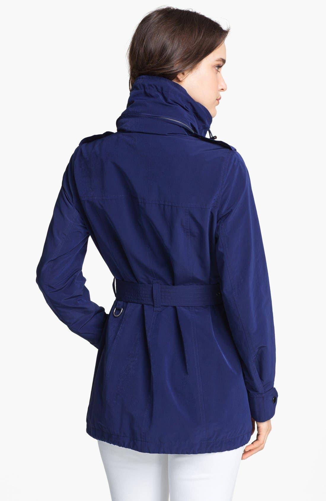 LONDON FOG, Belted Jacket with Hidden Hood, Alternate thumbnail 4, color, 400