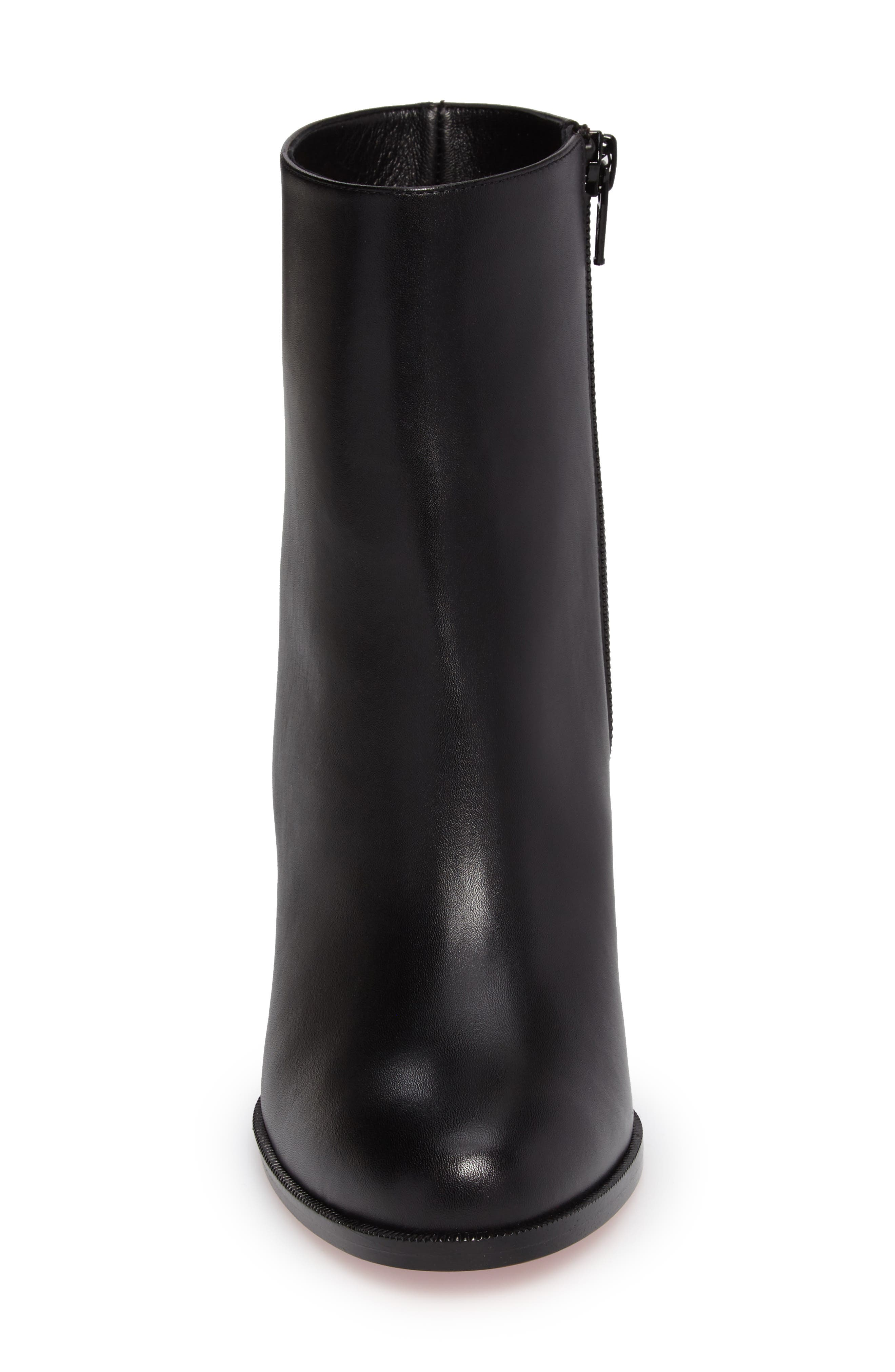 CHRISTIAN LOUBOUTIN, Adox Boot, Alternate thumbnail 4, color, BLACK LEATHER