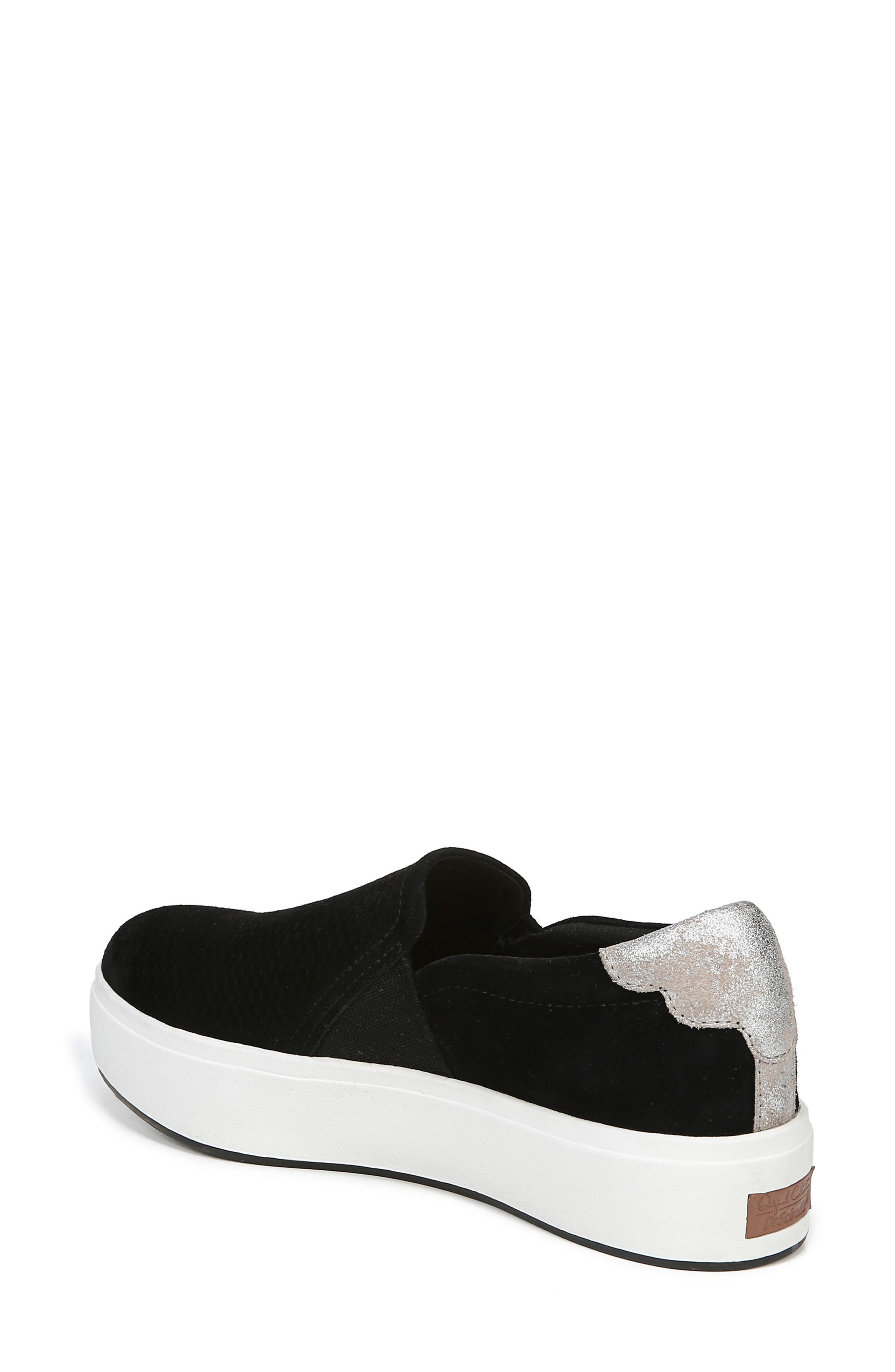 DR. SCHOLL'S, Abbot Lux Sneaker, Alternate thumbnail 2, color, BLACK SUEDE