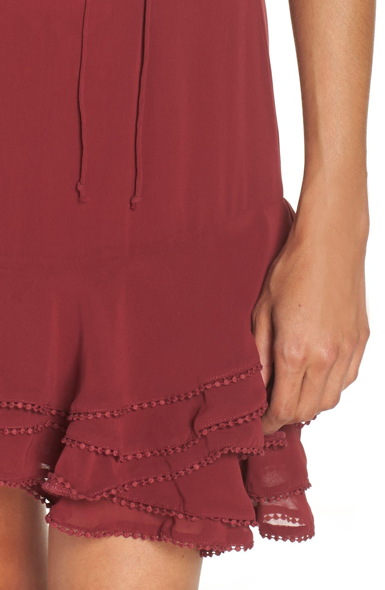 BB DAKOTA, Up All Night Layered Cold Shoulder Dress, Alternate thumbnail 5, color, 930