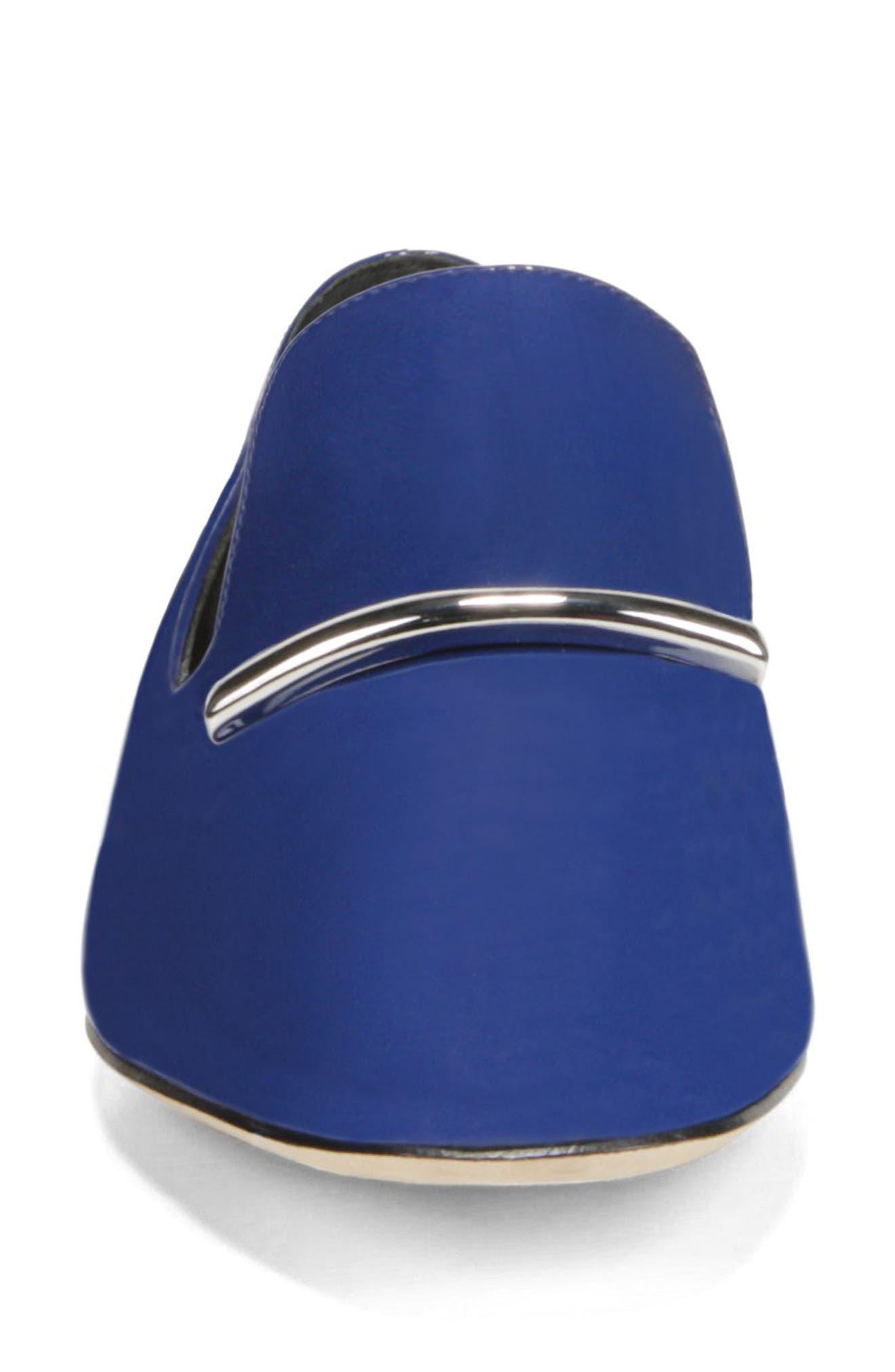 VIA SPIGA, Tallis Flat Loafer, Alternate thumbnail 4, color, POP BLUE