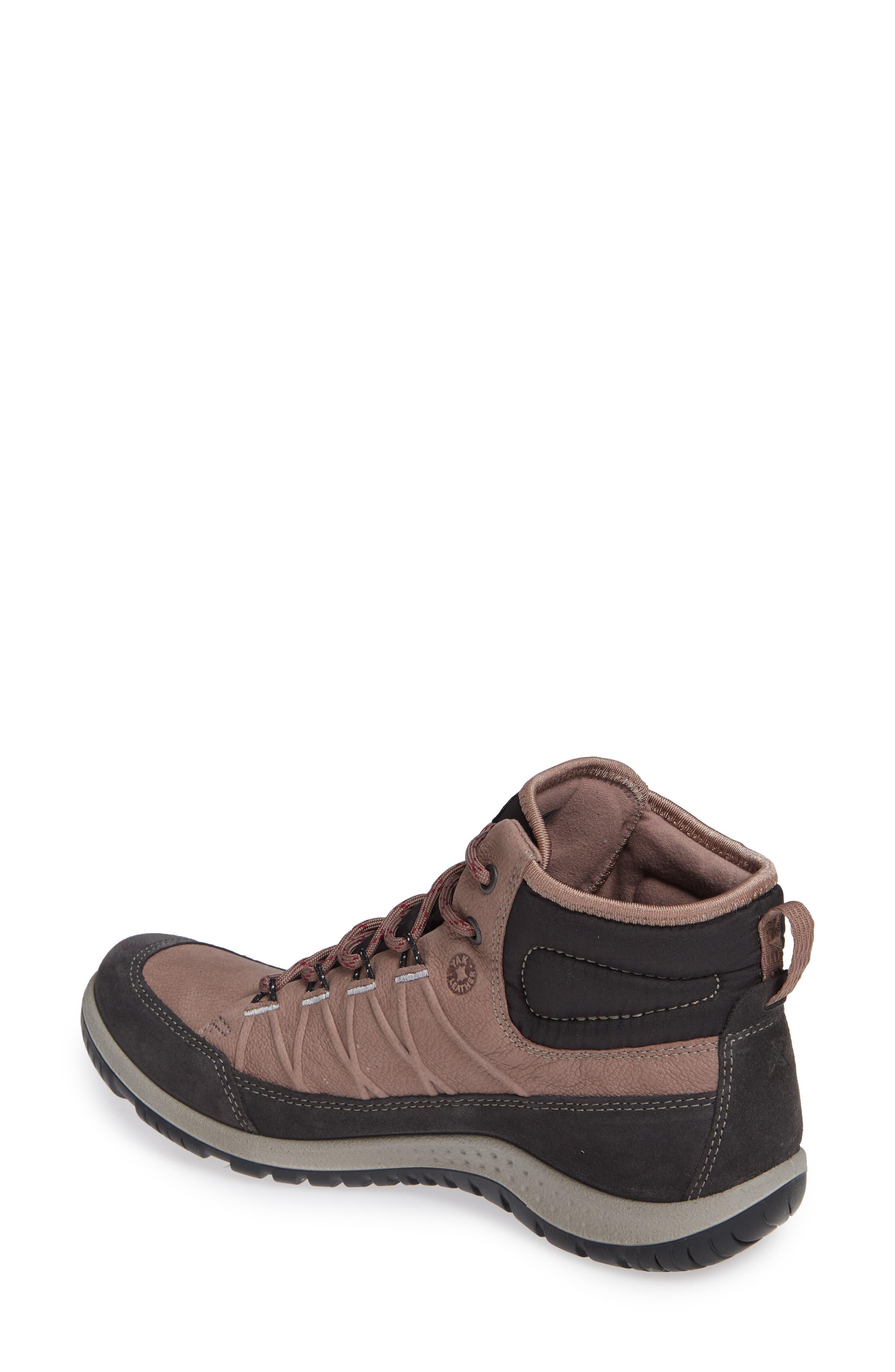 ECCO, 'Aspina GTX' Waterproof High Top Shoe, Alternate thumbnail 2, color, DEEP TAUPE NUBUCK LEATHER