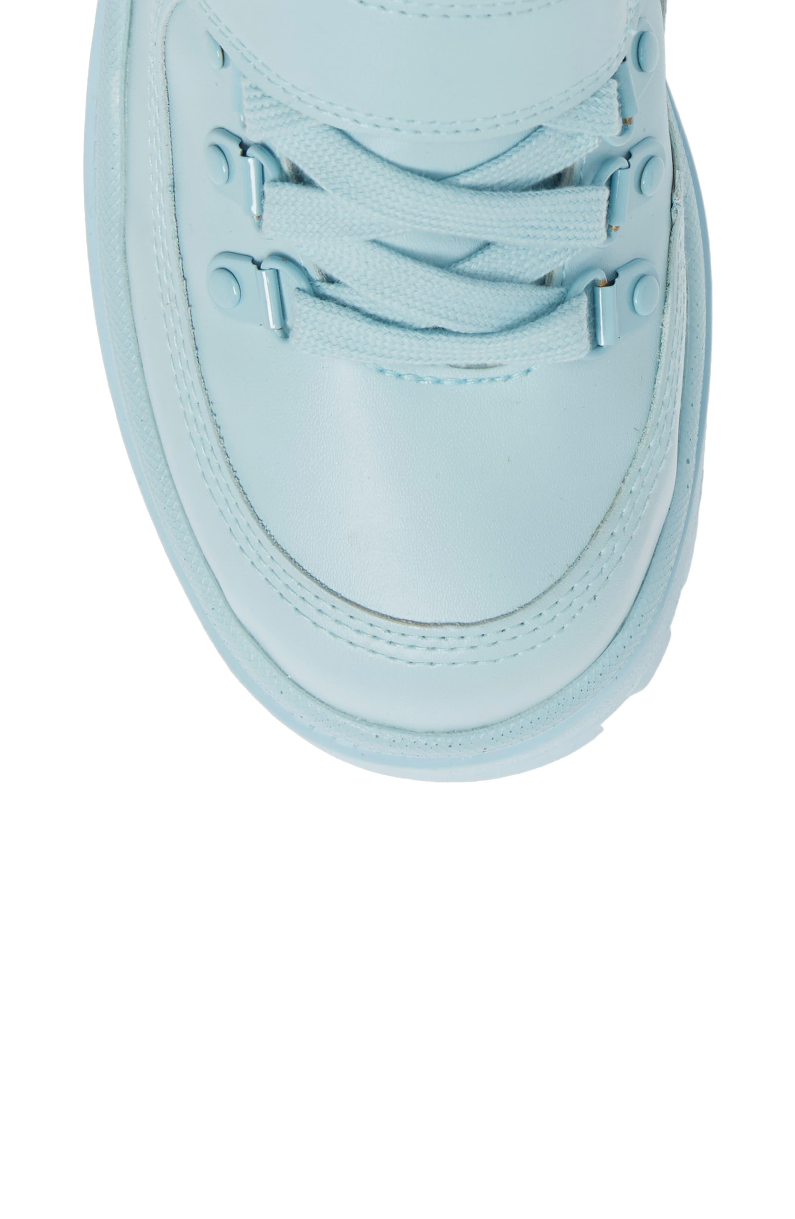 JEFFREY CAMPBELL, Top Peak 2 Platform Sneaker, Alternate thumbnail 5, color, BLUE FAUX LEATHER