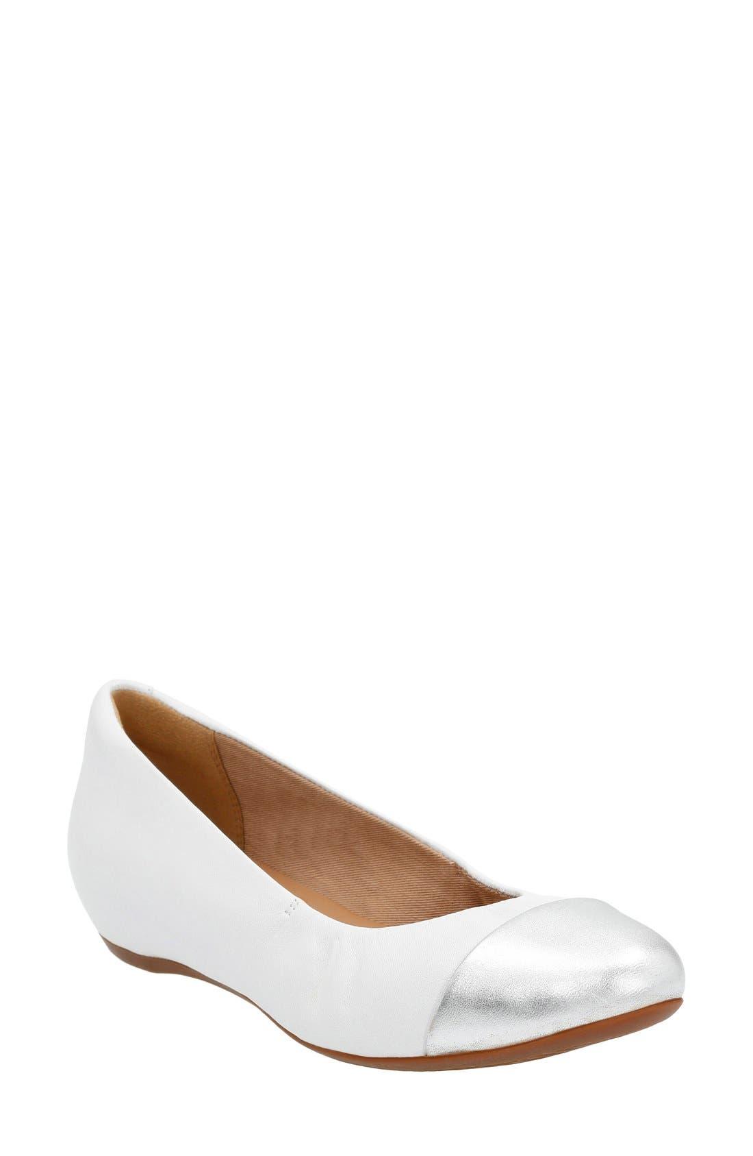 CLARKS<SUP>®</SUP> 'Alitay Susan' Cap Toe Flat, Main, color, 133