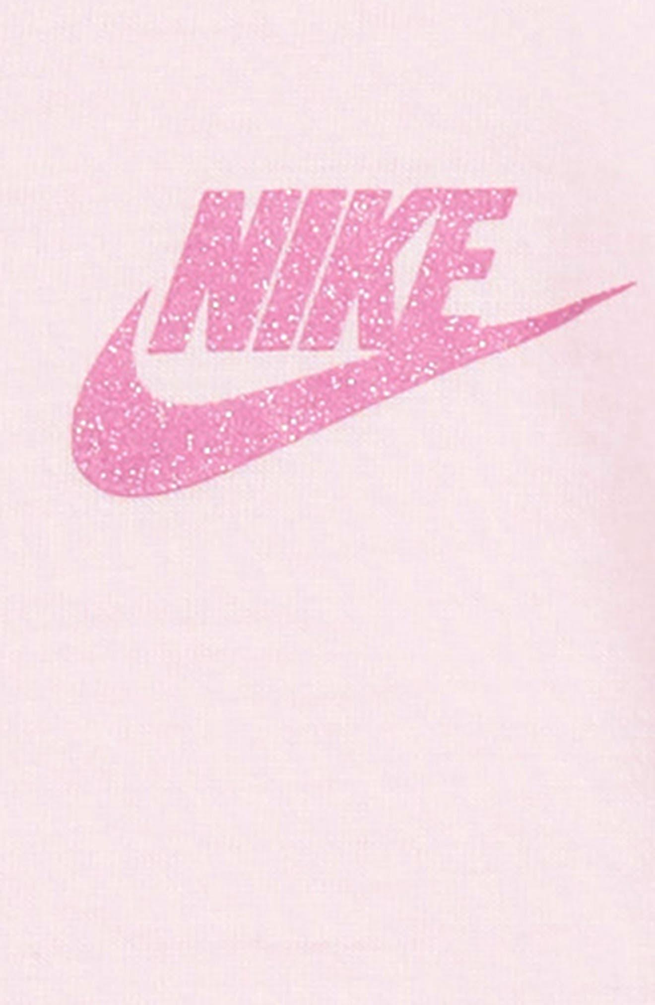 NIKE, Logo T-Shirt Dress, Alternate thumbnail 2, color, DK GREY HEATHER