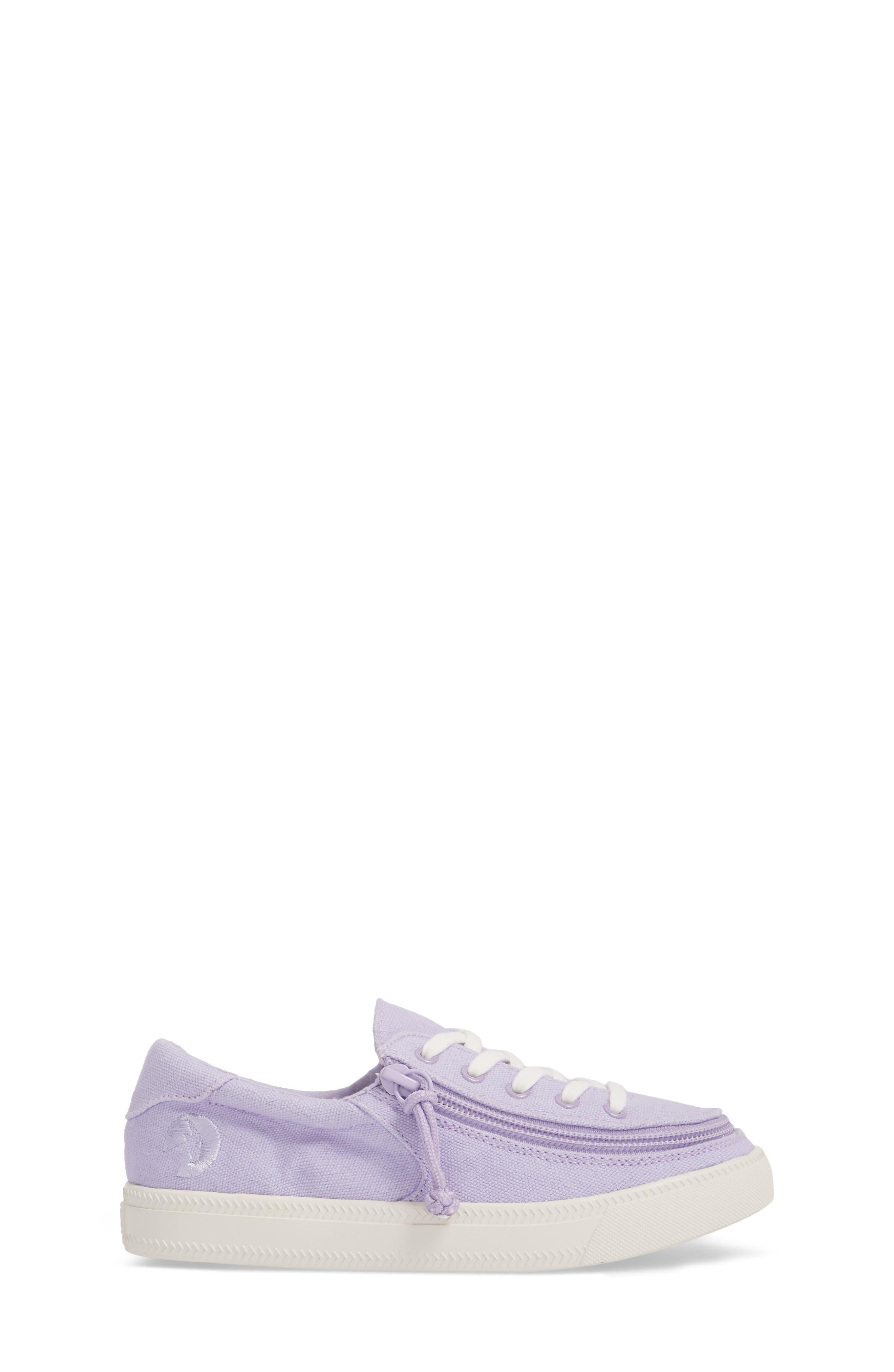 BILLY FOOTWEAR, Classic Zip Around Low Top Sneaker, Alternate thumbnail 4, color, LAVENDER