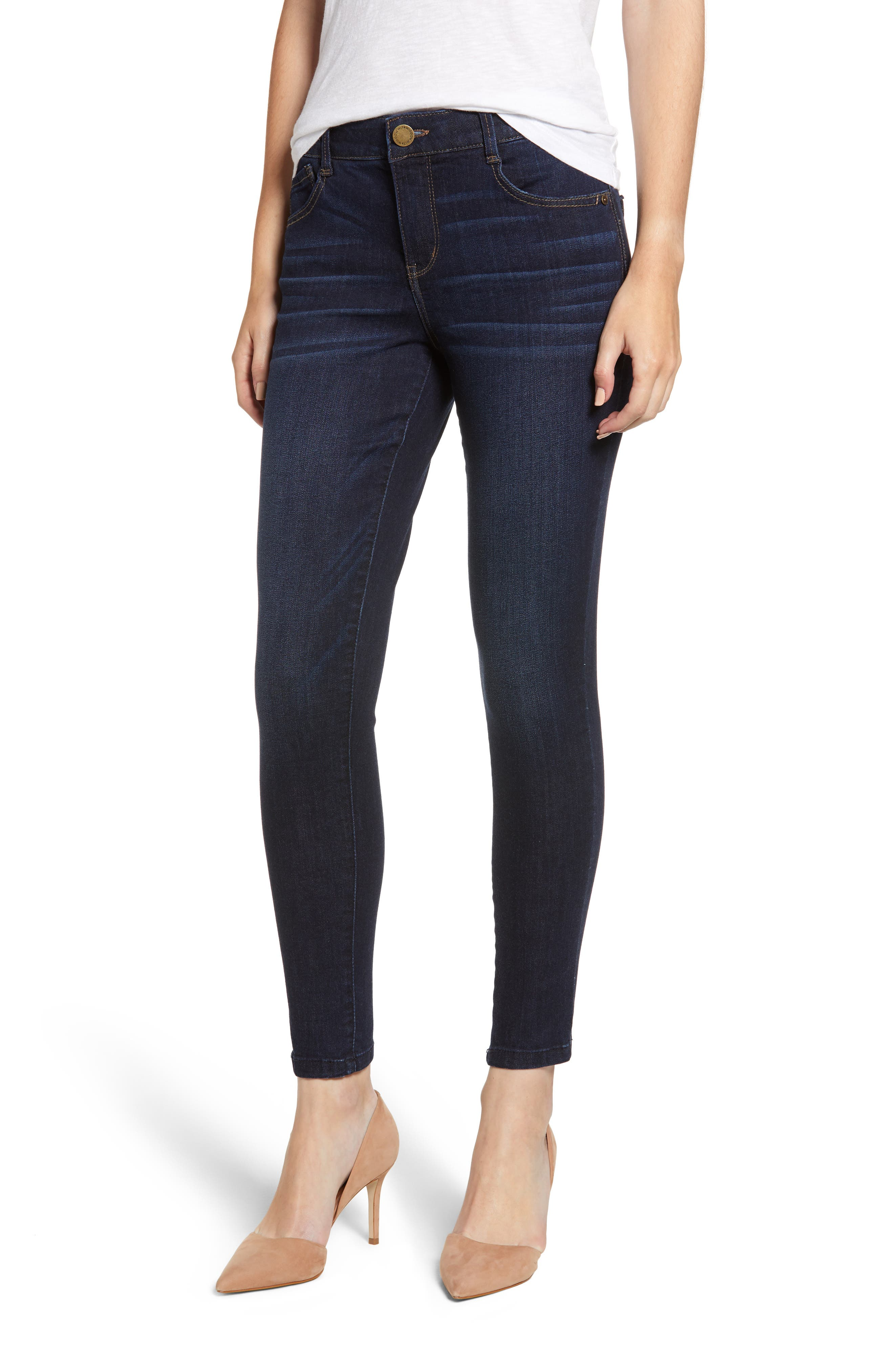WIT & WISDOM Ab-solution High Waist Modern Skinny Ankle Jeans, Main, color, INDIGO