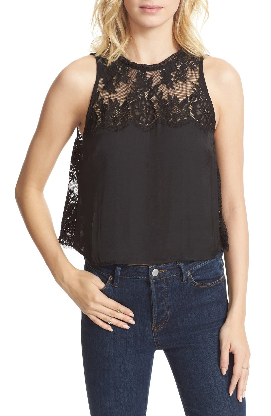 FREE PEOPLE, Tied to You Camisole, Alternate thumbnail 3, color, 001