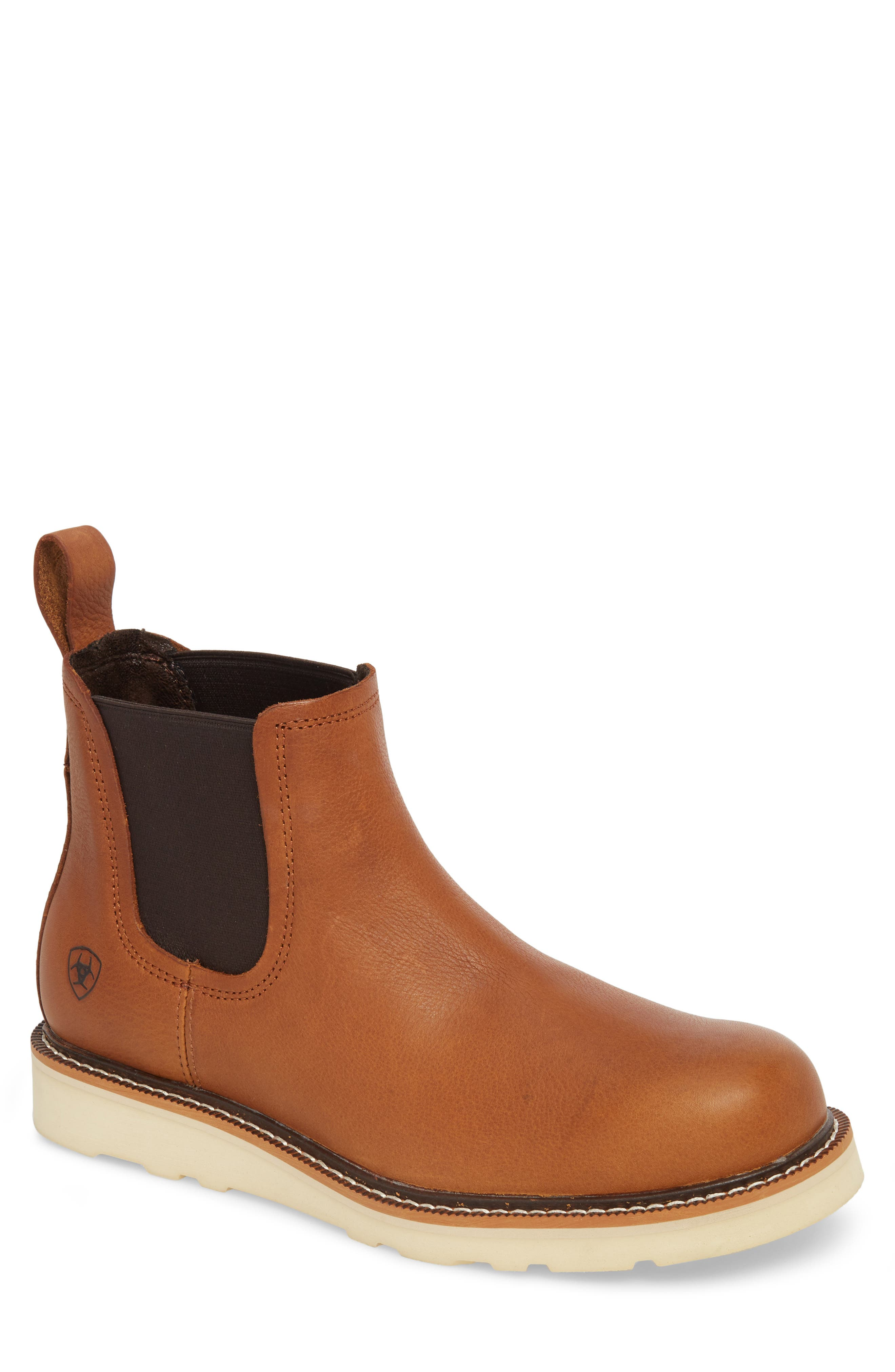 ARIAT Rambler Recon Mid Chelsea Boot, Main, color, GOLDEN GRIZZLY
