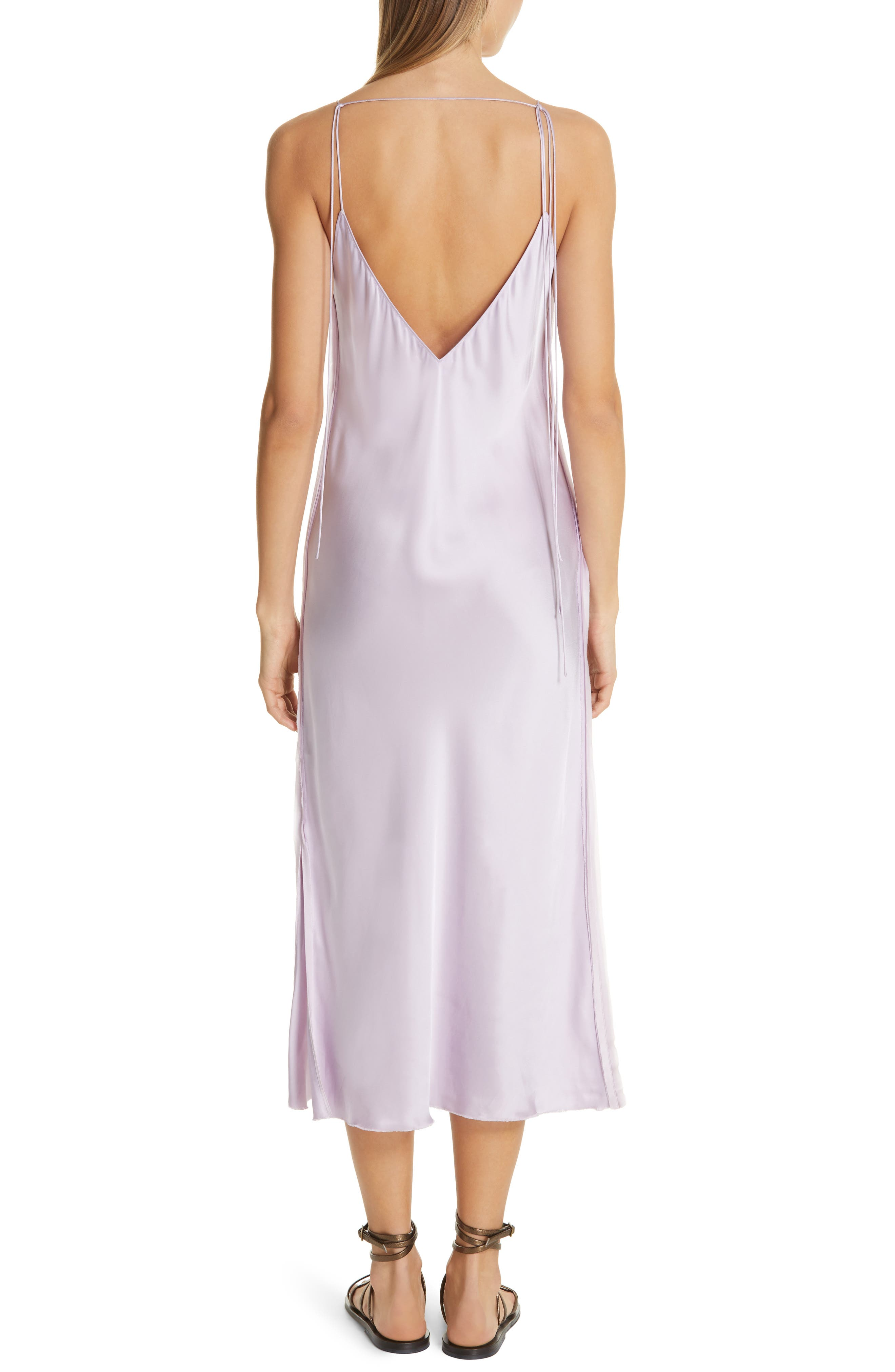 HELMUT LANG, Raw Detail Slipdress, Alternate thumbnail 2, color, LAVENDER