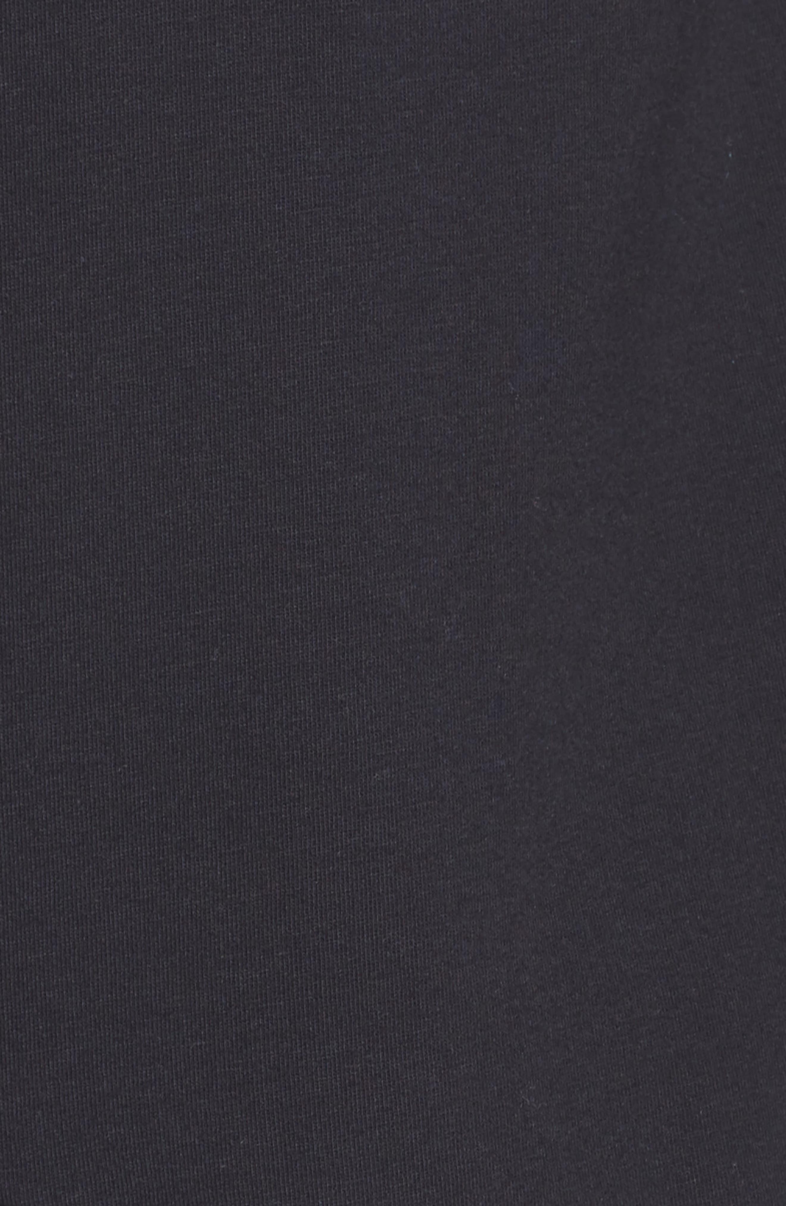 ZELLA, Ria Hooded Cardigan, Alternate thumbnail 6, color, BLACK FLEECE