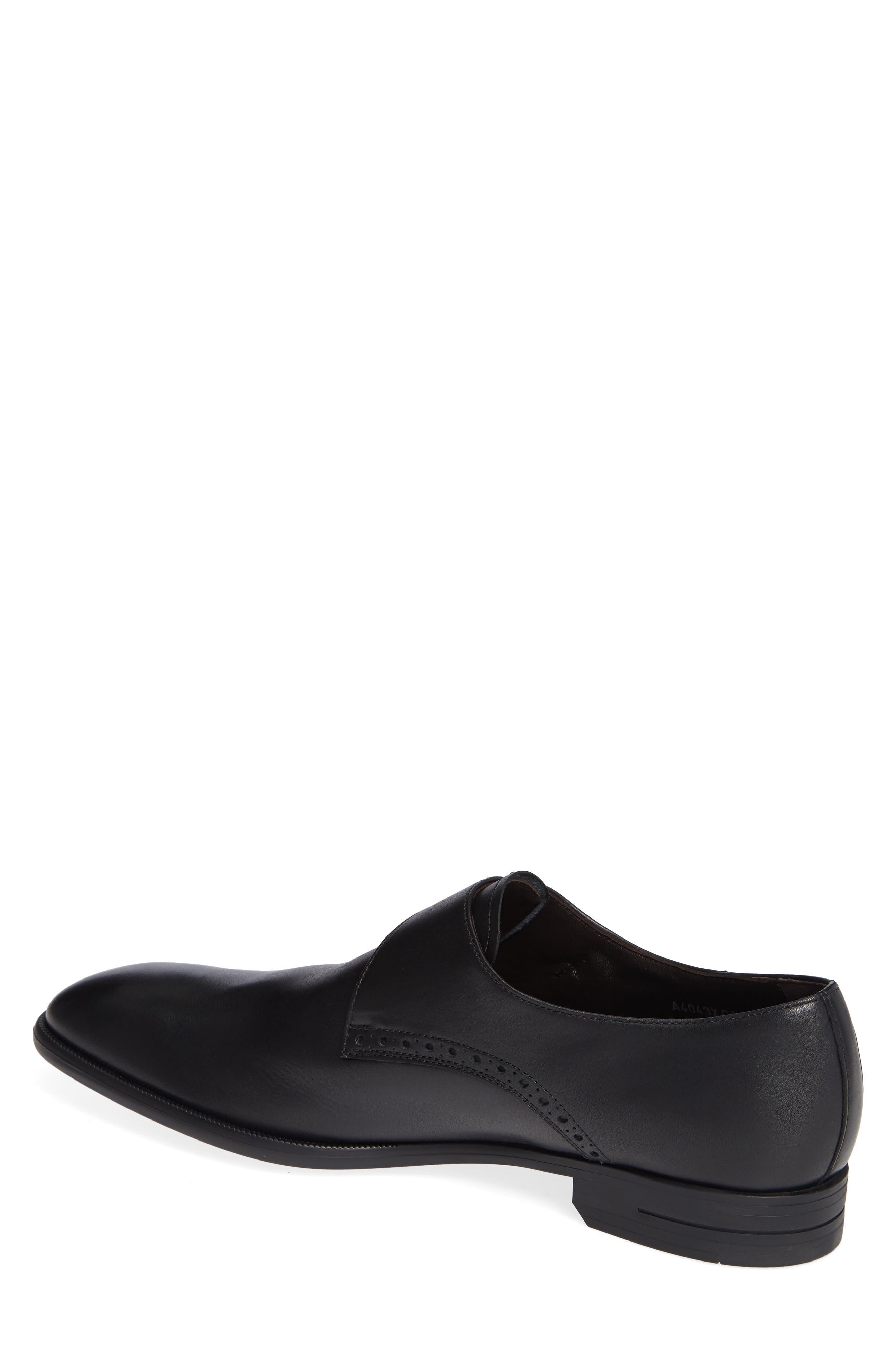 ERMENEGILDO ZEGNA, Single Strap Monk Shoe, Alternate thumbnail 2, color, BLACK