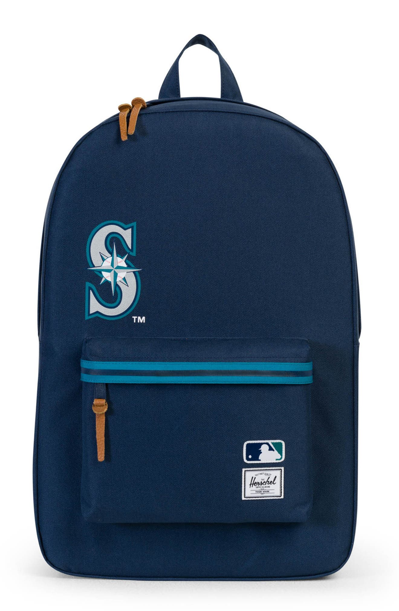 HERSCHEL SUPPLY CO. Heritage Seattle Mariners Backpack, Main, color, SEATTLE MARINERS