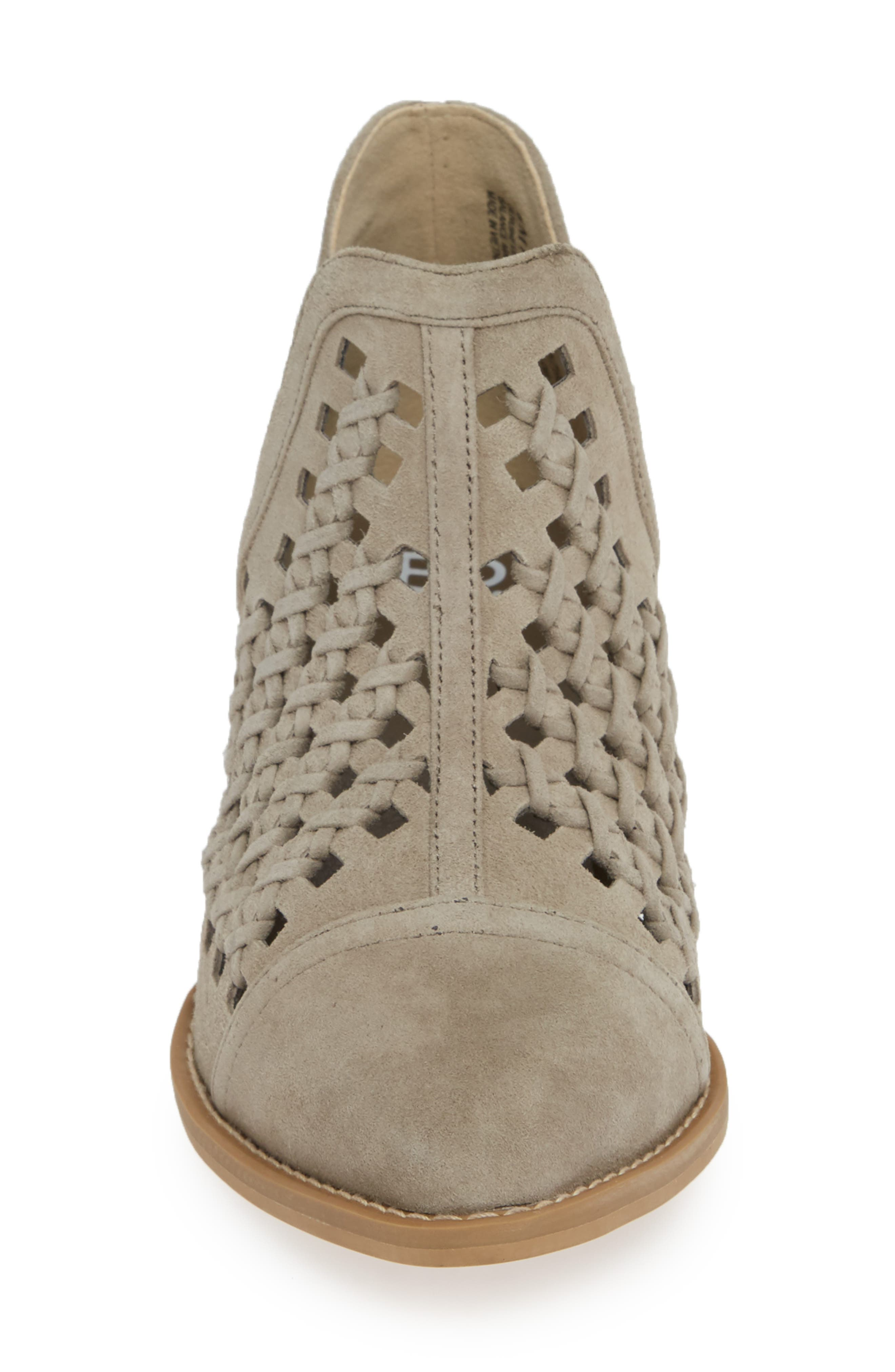 BP., Tate Bootie, Alternate thumbnail 4, color, TAUPE SUEDE