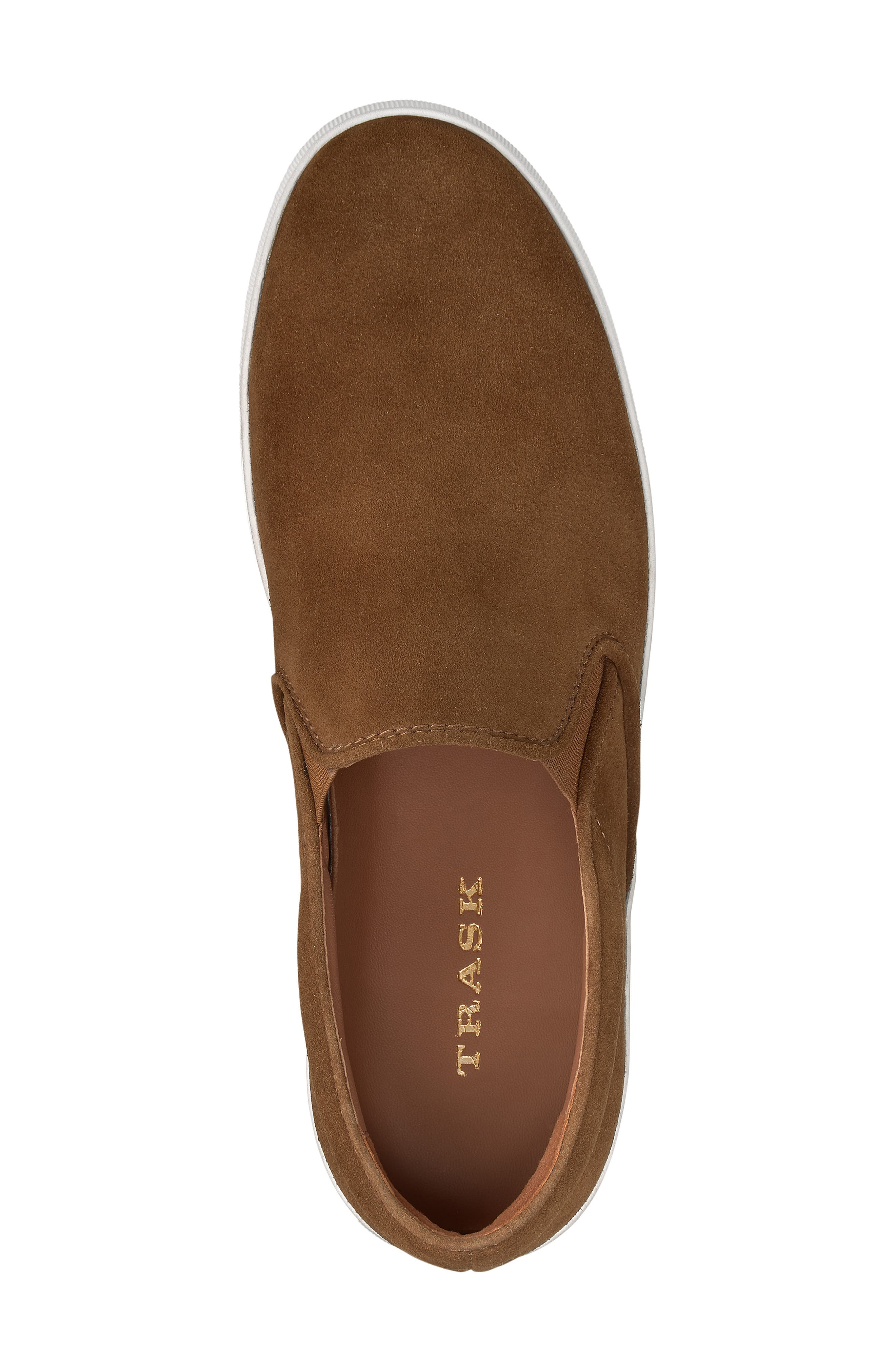 TRASK, Alex Slip-On Sneaker, Alternate thumbnail 5, color, SNUFF SUEDE
